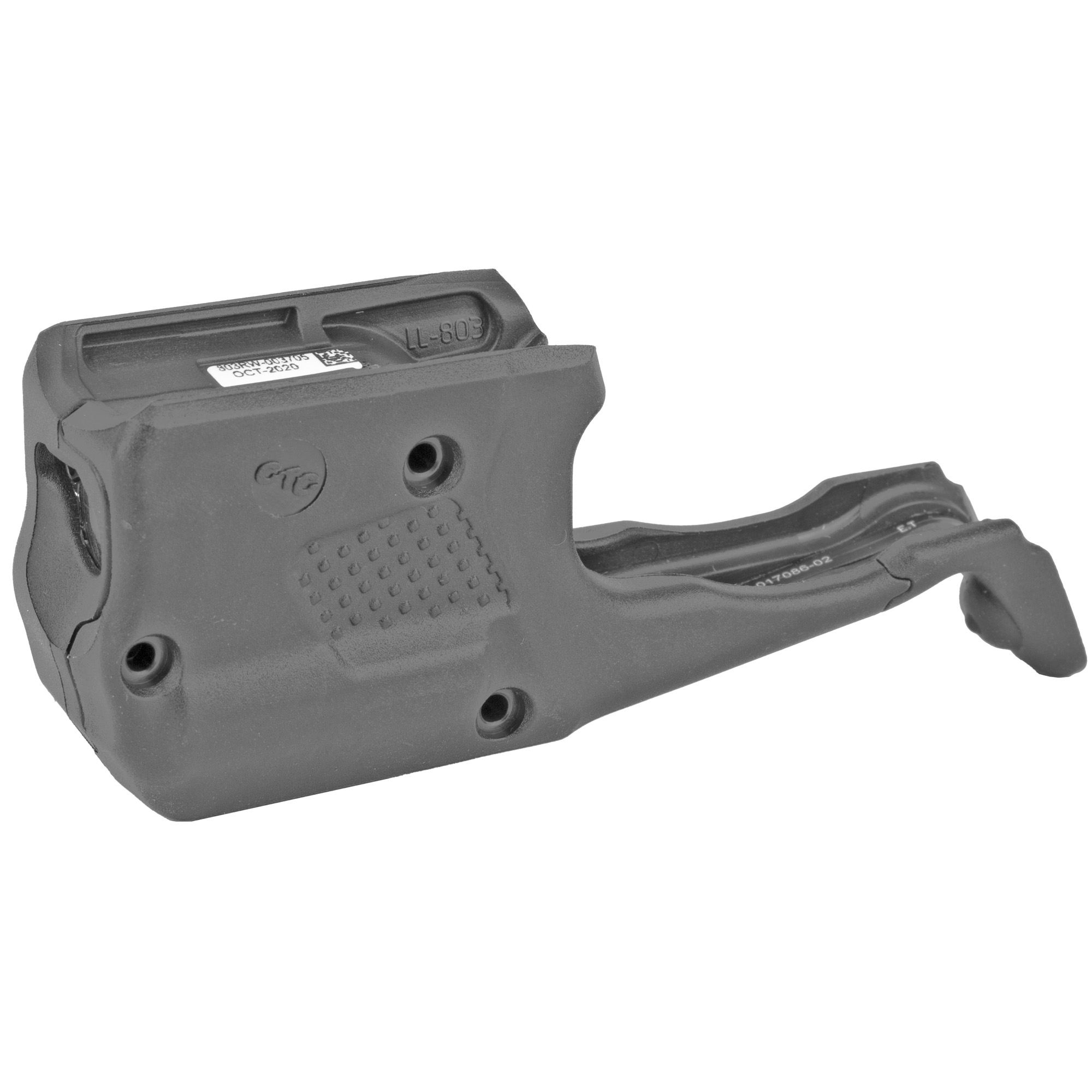 """LL-803 Laserguard(R) Pro for GLOCK(R) GLOCK(R) G42"""" G43"""" G43X and G48 is a powerful red laser sight and 150 Lumen LED white light in a single compact unit. Designed specifically for these compact platforms"""" this illumination and targeting product is activated with Crimson Trace's famed Instinctive Activation(TM)"""" which activates the unit with a normal firing grip. LL-801 offers four modes of operation: Laser + Light"""" Laser Only"""" Light Only"""" and Laser + Light Strobe. The unit features a Master On/Off Switch"""" is completely user-installed in moments"""" and is adjustable for windage and elevation."""