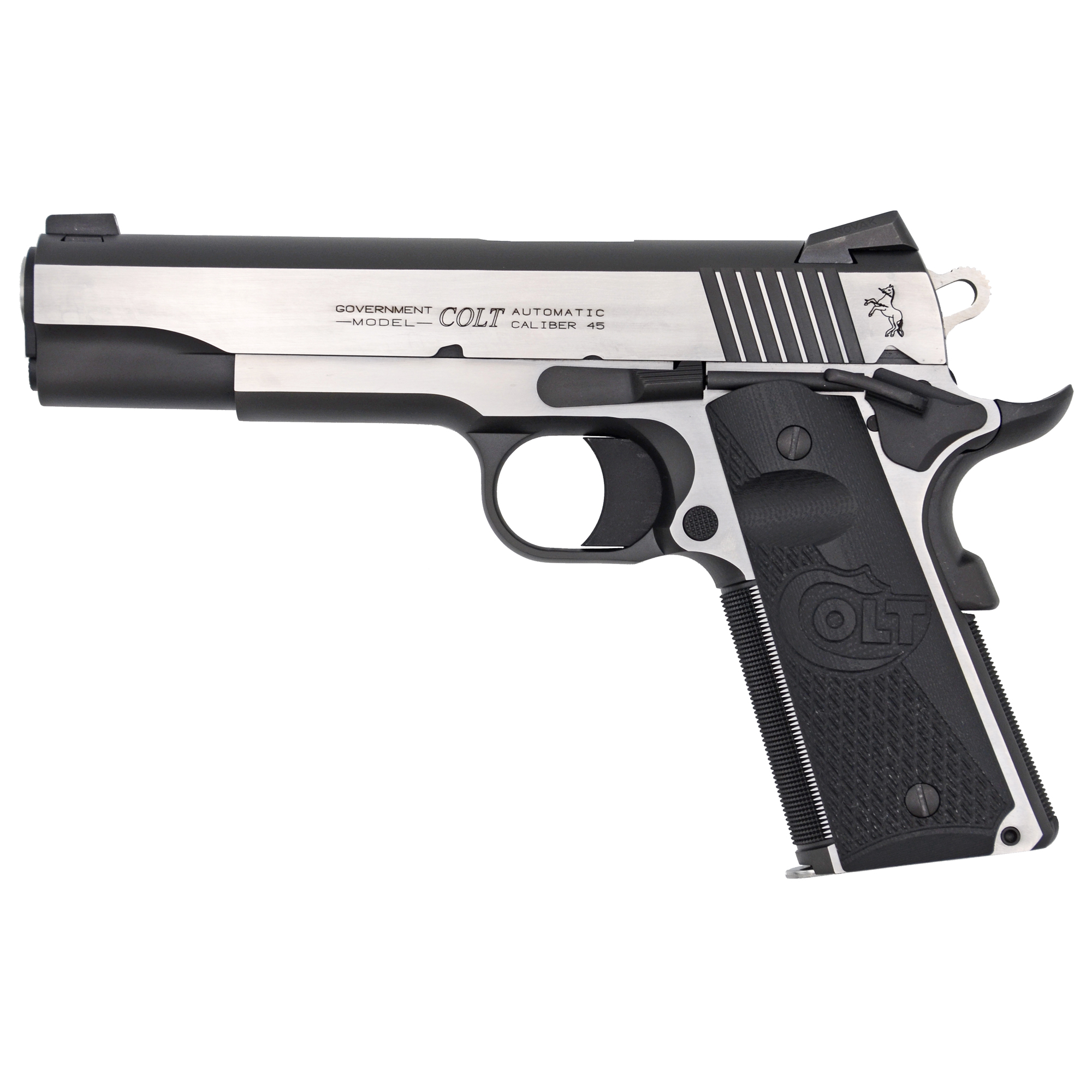 "The Colt M1911 pistol has been a favorite for 100 years as a service pistol"" law enforcement pistol"" and personal defense firearm. This pistol features G10 grips"" an upswept beavertail grip safety and an ambidextrous thumb safety."