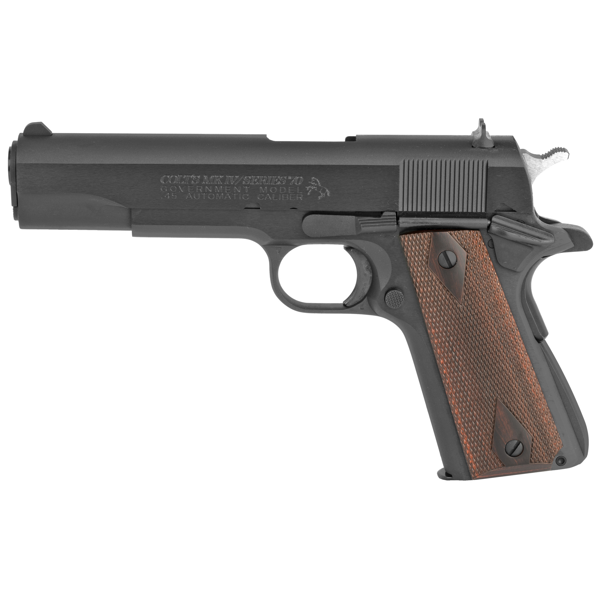 "Colt's Series 70 pistol features the Series 70 firing system"" making it a faithful reproduction and throwback to Colt Government Models manufactured during the 1970's. It is a rugged and dependable Colt that features high maintainability and sustains repeatable accuracy."