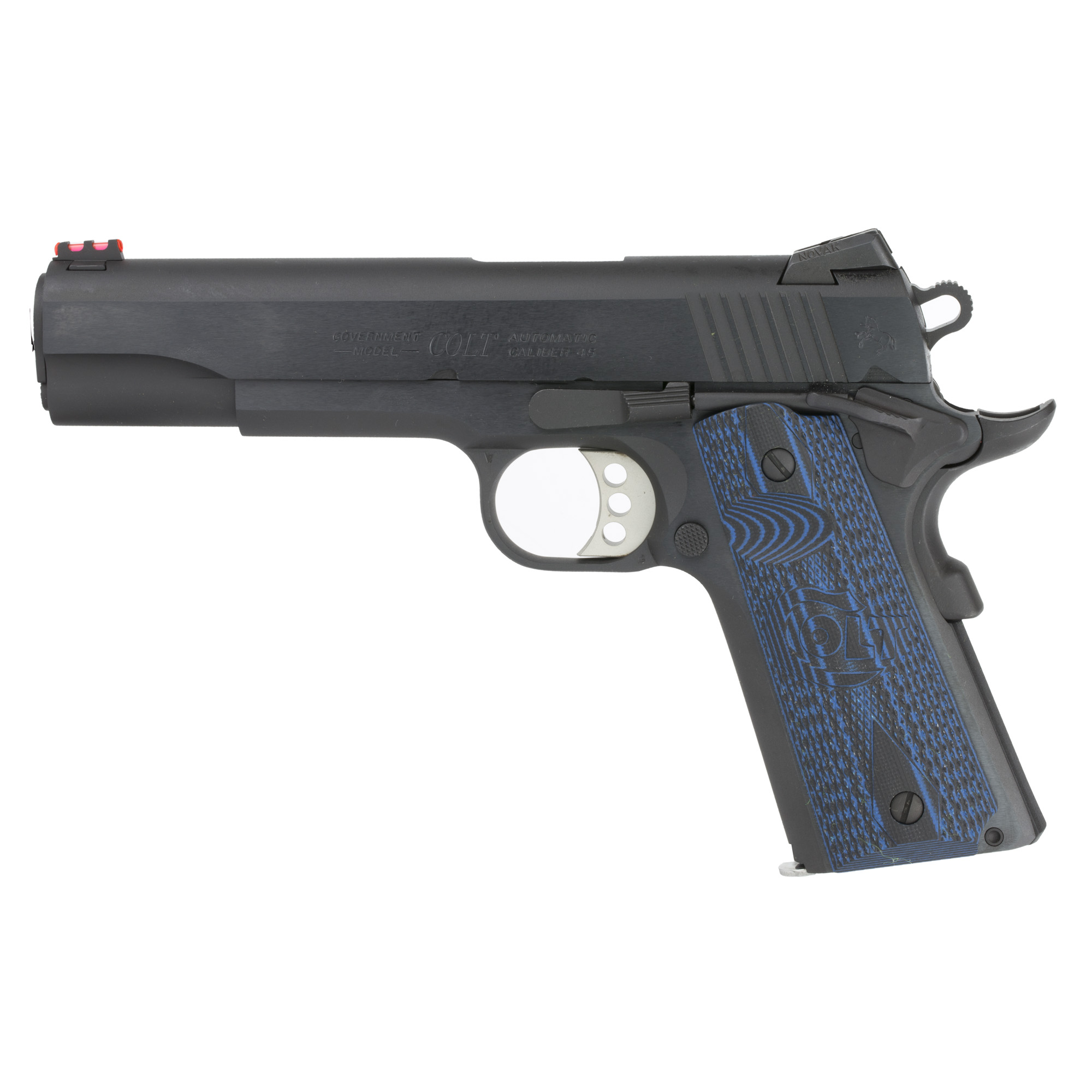 "A true competition 1911 that's ready for the battle against the timer. Now available in corrosion resistant Stainless Steel. Custom G10 Grips"" Upswept Beavertail Grip Safety"" and Undercut Trigger Guard keep the pistol low in the hand for increased control. The Dual Recoil spring system reduces felt recoil while extending recoil spring life. A National Match(R) Barrel and Novak Adjustable Fiber Optic Sights help with precision shooting. The Series 70 Firing System ensures a clean crisp trigger pull."