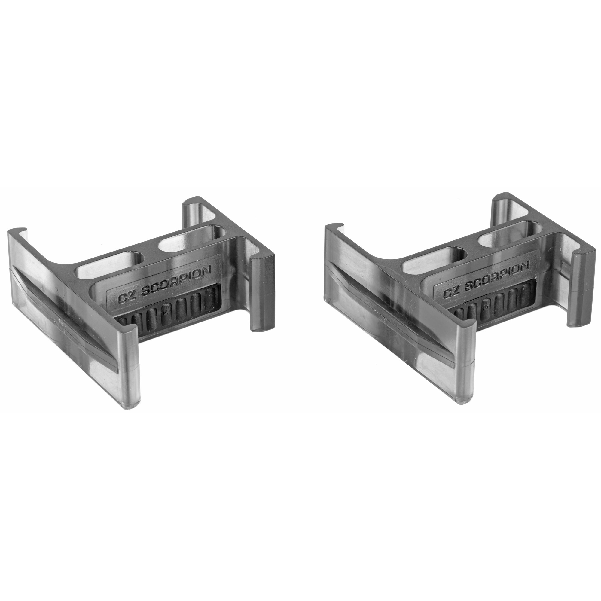 This CZ Scorpion magazine coupler set contains 2 magazine couplers that are required to couple 2 magazines.