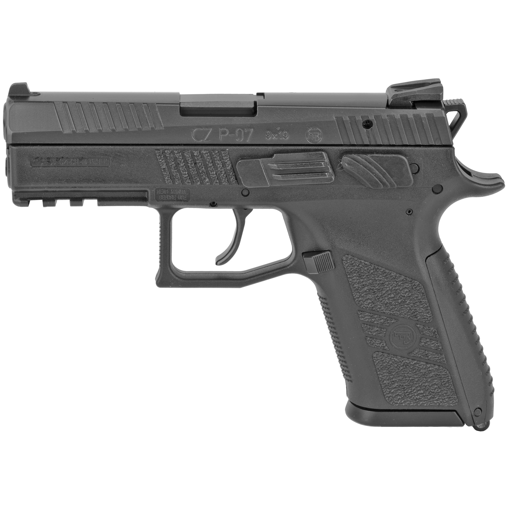 """Introduced in 2009"""" the CZ P-07 was the first handgun to feature the convertible Omega trigger system. A simplification of the CZ 75's hammer ignition method"""" the Omega's trigger parts are interlocking in nature"""" allowing full disassembly and reassembly without the need for gunsmithing experience or tools."""