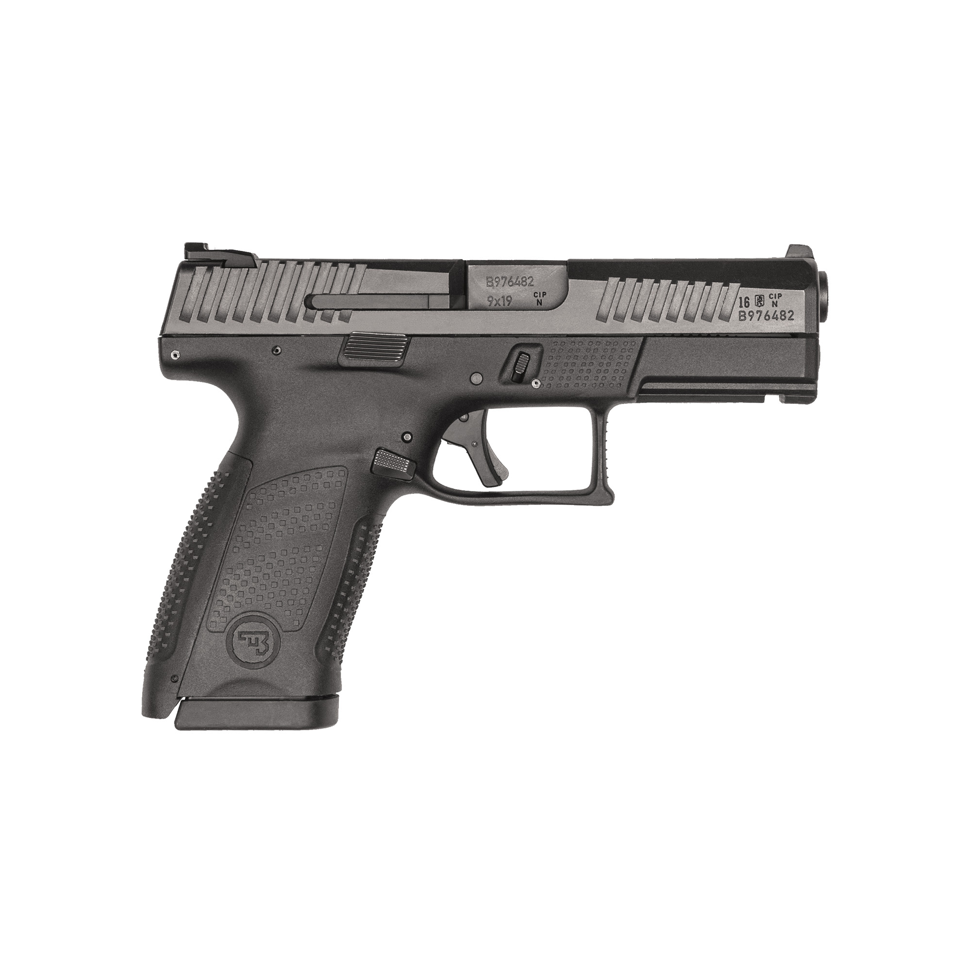 """The P-10C is much more than just CZ's take on the striker-fired pistol"""" the P-10 is decidedly CZ"""" from the way it feels to the way it shoots. Built to withstand the rigors of military use"""" its fiber-reinforced polymer frame and hardy nitride finish are made for the daily grind. A generous trigger guard allows use with gloved hands while being undercut to allow as high a grip as possible."""