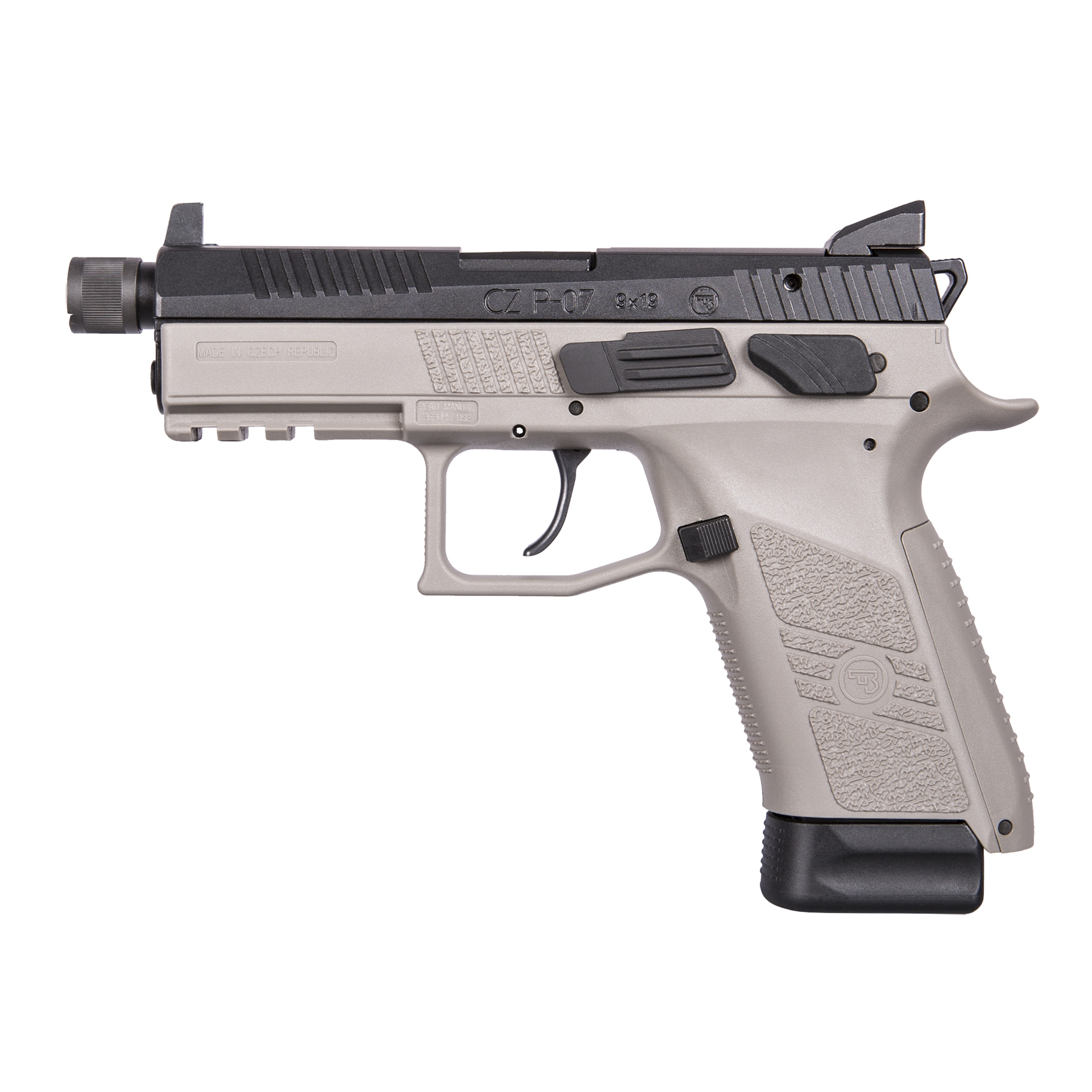 """Like the P-09"""" the P-07's safety and decocker are interchangeable with a few minutes and minimal tools. Add to that small"""" medium and large backstraps and an integrated 1913 Picatinny rail on the dust cover and the P-07 is adaptable to the shooter and their needs"""" from service pistol to bedside protector to the envy of the shooting range."""