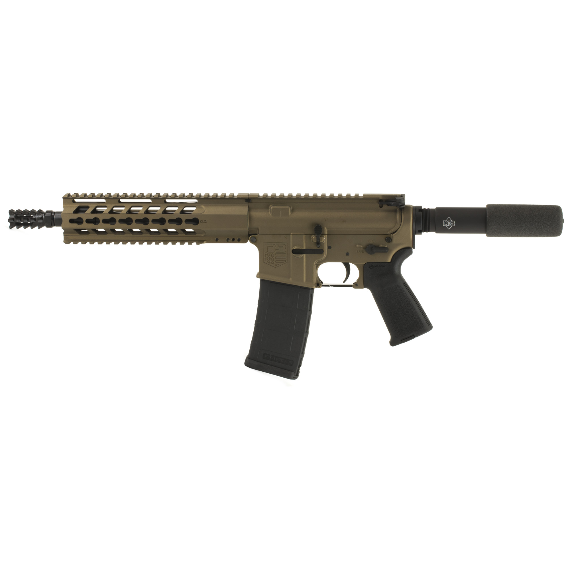 """Diamondback Firearms is proud to announce its NEW line of DB15 Pistols made entirely in the USA! Starting with the tried-and-true"""" U.S. Military-proven gas-impingement system and using only the highest quality components machined in Diamondback's CNC facility. The DB15 Pistol raises the bar when it comes to features and performance when compared to others."""