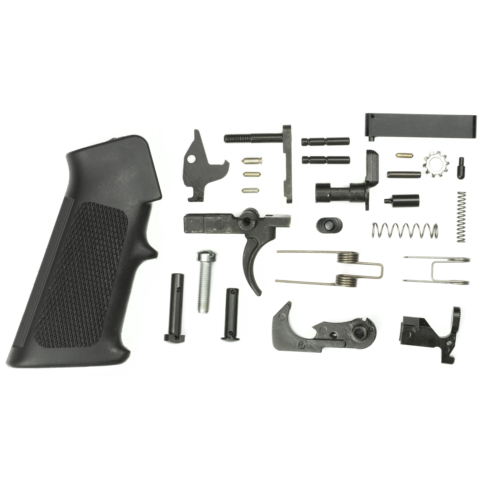 "Double Star uses only the best parts to make their lower parts kits. The fire control group is made from mil spec heat treated 8620 steel and finished on all touch points for a smooth"" crisp trigger pull with minimal creep or drag. This AR15 lower parts kit uses high quality American made parts to ensure performance in your AR15."