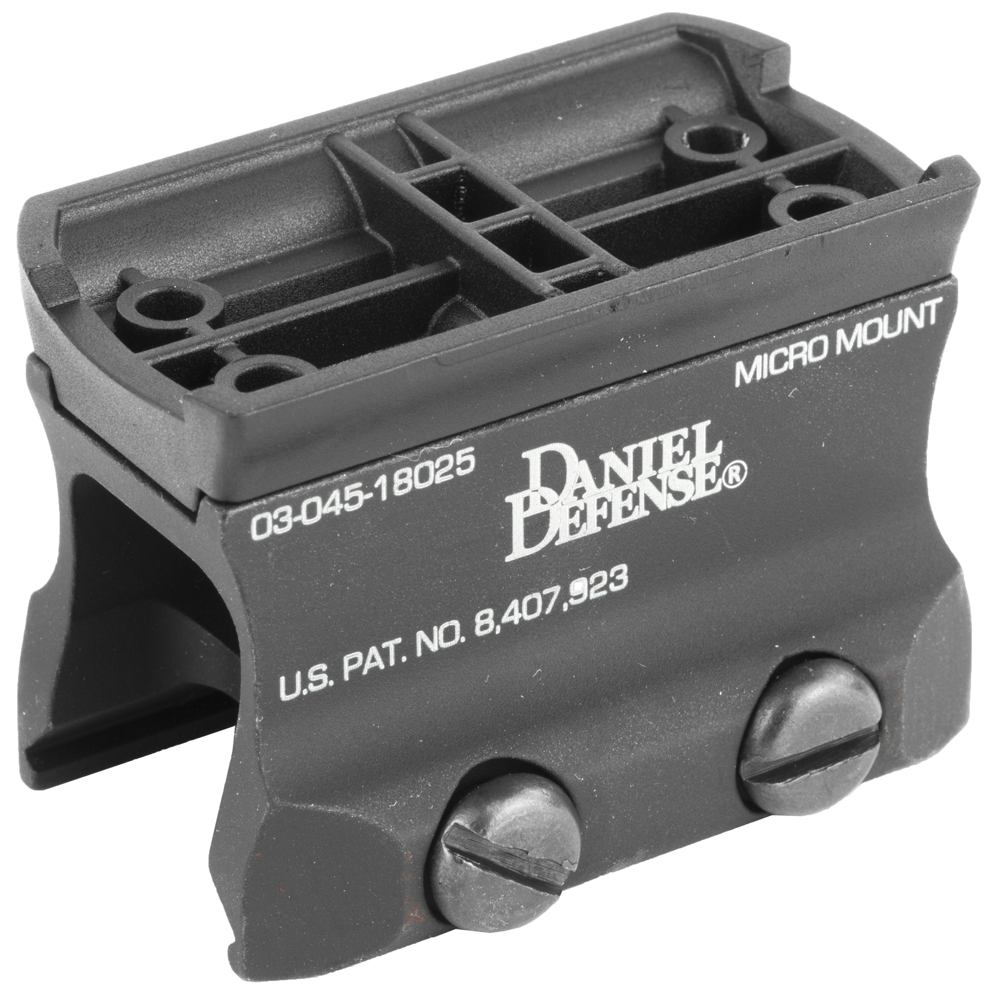 "The Daniel Defense Micro Mount is designed to securely mount a variety of popular optics to your flat-top upper receiver including Aimpoint's Micro R-1"" H-1"" H-2"" T-1"" T-2"" Vortex's Sparc I & II"" Primary Arms' Micro Dot & Advanced Micro Dot"" Holosun Technologies HS403"" or any other optic utilizing the same type of mounting interface. Offering Absolute or a Lower 13rd Co-Witness with your back-up iron sights"" this mount is ideal for shooters who are looking for one of the lightest and strongest mounts available to secure their optics."
