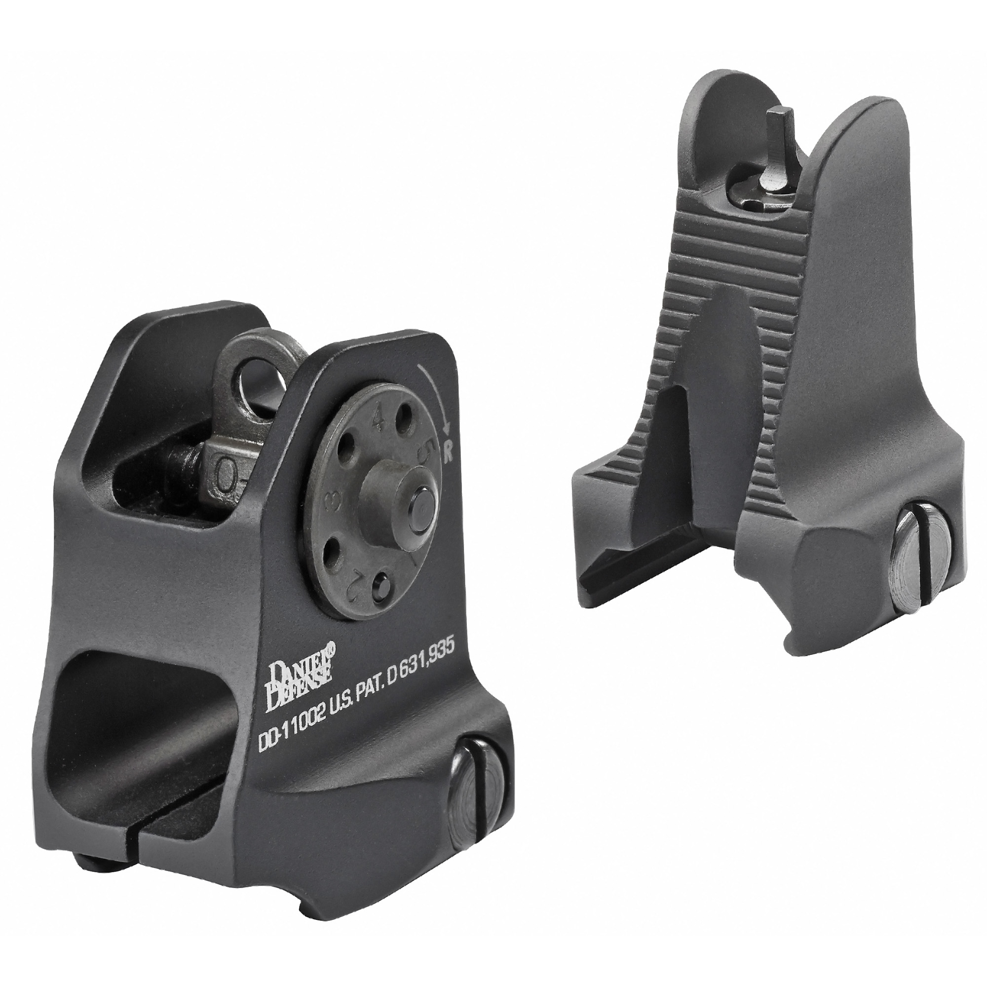 "Machined from 6061-T6 Aluminum and Military Specification Hard Anodized"" their Fixed Front/Rear Sight combo is both lightweight and durable and is the perfect complement to each other."