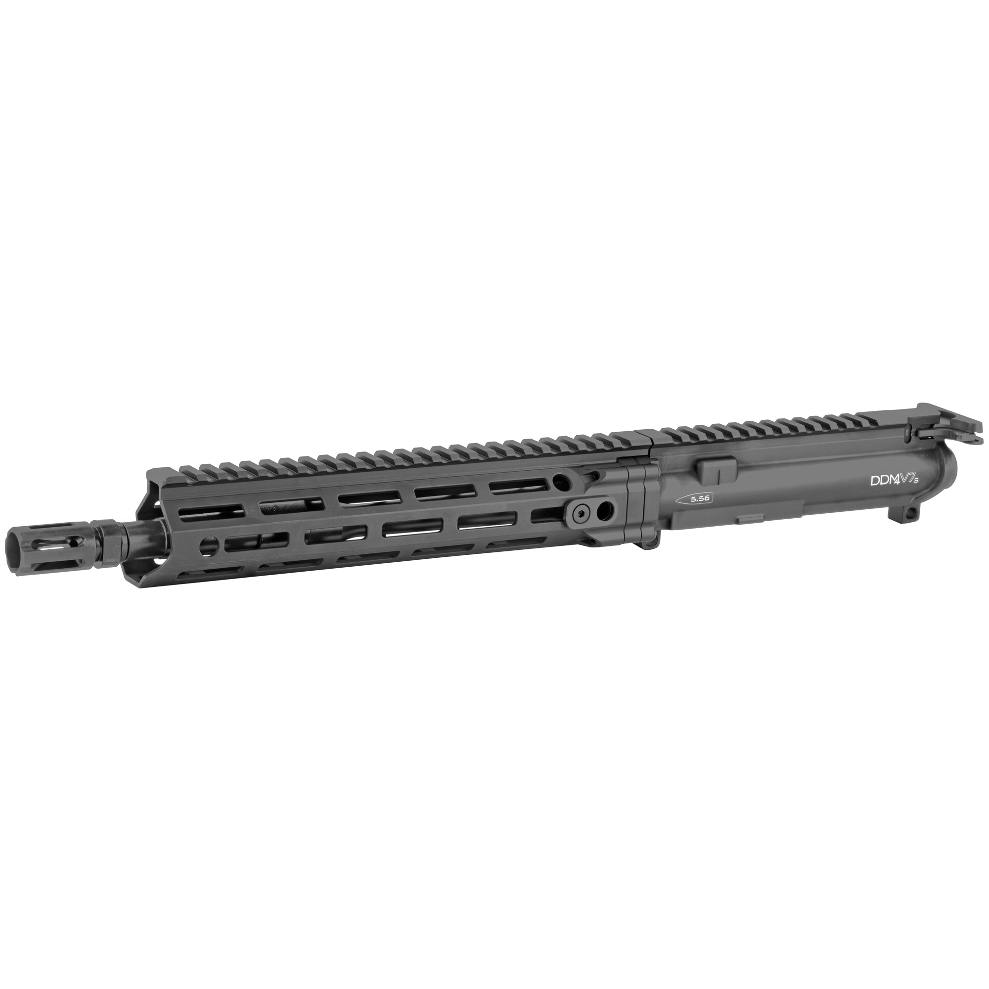 "The Daniel Defense M4 V7 S Upper Receiver Group is built around a Cold Hammer Forged 11.5"" Government profile barrel and equipped with a DD improved Flash Suppressor to reduce flash signature. It features a carbine length gas system for smooth"" reliable cycling under harsh conditions and reduced perceived recoil. The MFR 10.0 handguard offers incredible weight savings as well as superior cooling"" ergonomics"" and modularity while maintaining the strength and durability expected from Daniel Defense. With the M-LOK attachment points that run along 7 positions and an uninterrupted 1913 Picatinny rail on top"" the V7 S Upper Receiver Group has plenty of room for the sights"" optics"" and accessories the user may require. The new independently ambi GRIP-N-RIP Charging Handle accommodates left- and right-handed shooters and is engineered for suppressed fire"" with anti-gas features that redirect gas flow upward and away from the face and operator. All Daniel Defense complete upper receiver groups come standard with an M16 profile bolt carrier group. NFA DISCLAIMER: This firearm is a regulated item by the National Firearms Act (NFA). Please check with your local and state municipalities for any further regulatory requirements. It is the buyer's responsibility to make sure they comply with all NFA rules and applicable laws."