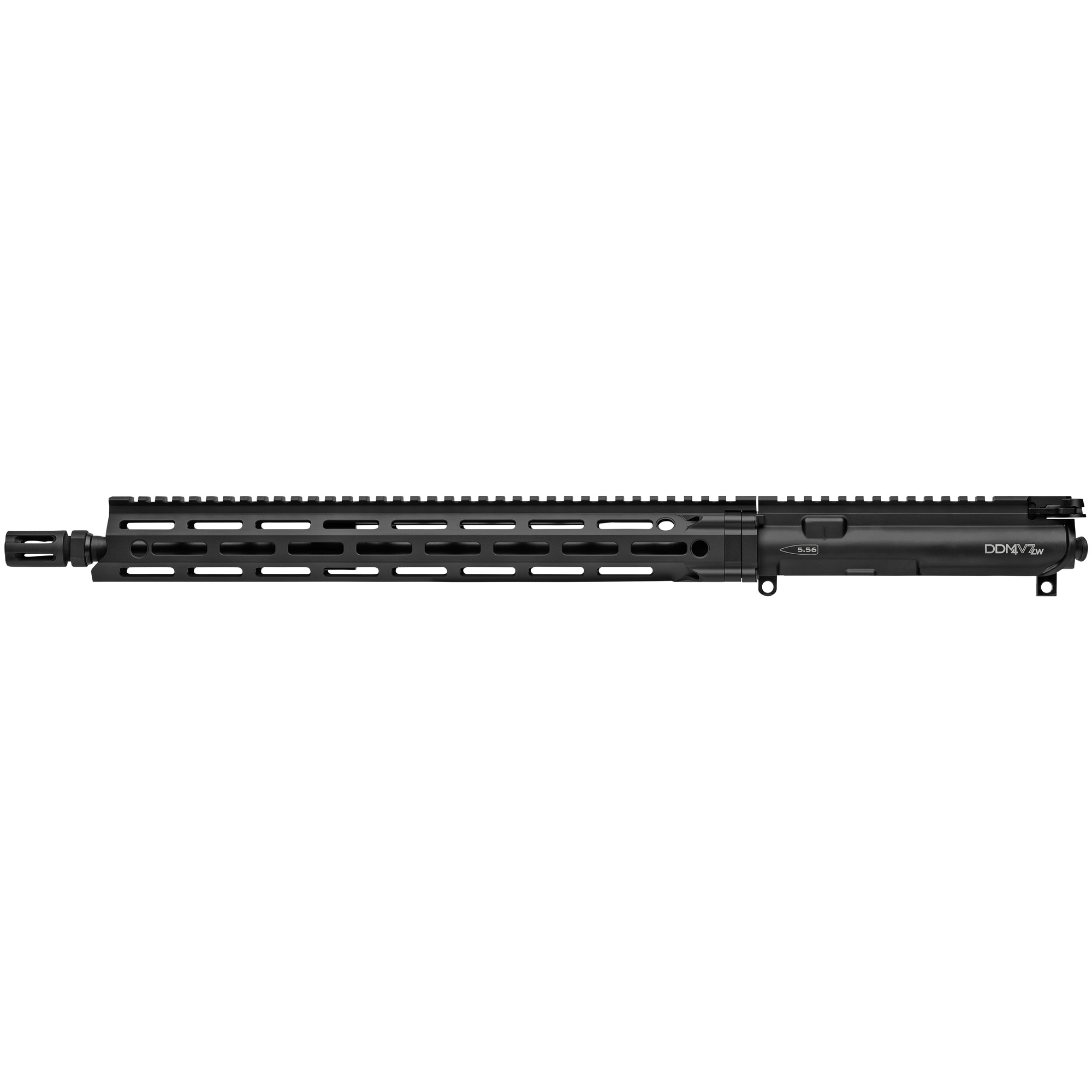 "The Daniel Defense M4 V7 LW Upper Receiver Group is built around a Cold Hammer Forged 16"" Lightweight profile barrel-which is two ounces less than a standard V7 barrel-and equipped with a DD improved Flash Suppressor to reduce flash signature. It features a mid-length gas system for smooth"" reliable cycling and reduced wear on moving parts. A free-floating MFR 15.0 handguard offers incredible weight savings as well as superior cooling"" ergonomics"" and modularity while maintaining the strength and durability expected from Daniel Defense. With the M-LOK attachment points that run along 7 positions and an uninterrupted 1913 Picatinny rail on top"" the V7 LW Upper Receiver Group has plenty of room for the sights"" optics"" and accessories the user may require. The new independently ambi GRIP-N-RIP Charging Handle accommodates left- and right-handed shooters and is engineered for suppressed fire"" with anti-gas features that redirect gas flow upward and away from the face and operator. All Daniel Defense complete upper receiver groups come standard with an M16 profile bolt carrier group."