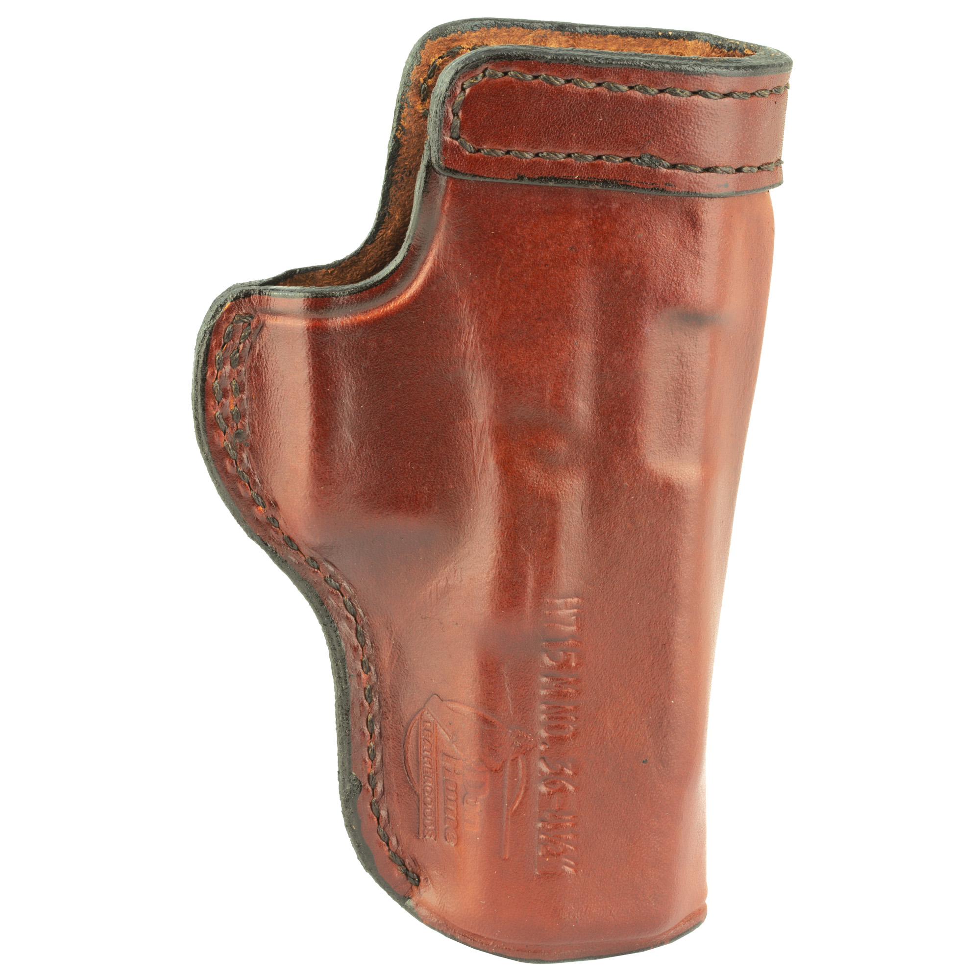 """The H715-M W.C. is Don Hume's best selling holster for concealment carry. This Inside the Waistband carry holster is made of lightweight leather and form molded Open top with reinforced mouth band to allow for easy one-handed return to holster. The H715-M W.C. carries the firearm in a neutral cant and can be worn strong side"""" cross draw"""" or behind the hip. Features a sturdy spring metal clip that fits belts up to 1 3/4""""."""
