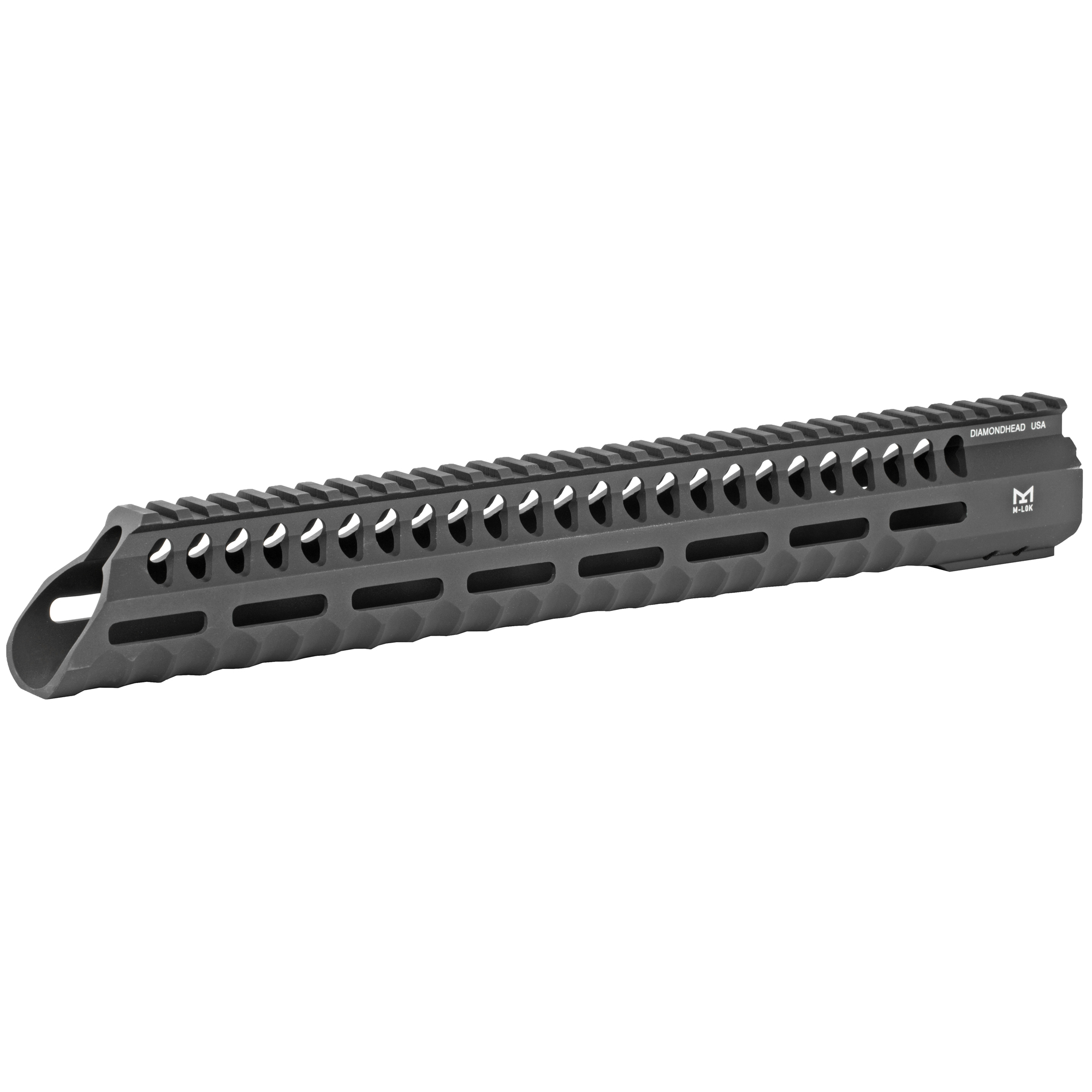 """The Diamondhead Versa-Rail System VRS T-556 Free Floating Handguard is an innovative forend design that offers an uninterrupted rail extension in perfect alignment with your firearm's flat top receiver. The VRS Free Floating Handguard provides excellent simplicity"""" lighting fast configuration changes and ease of use. M-LOK compatible on the sides and bottom"""" you can attach any M-LOK accessory or M-LOK add-on rails at any position you wish. Installation will require replacing your existing barrel nut which is included."""