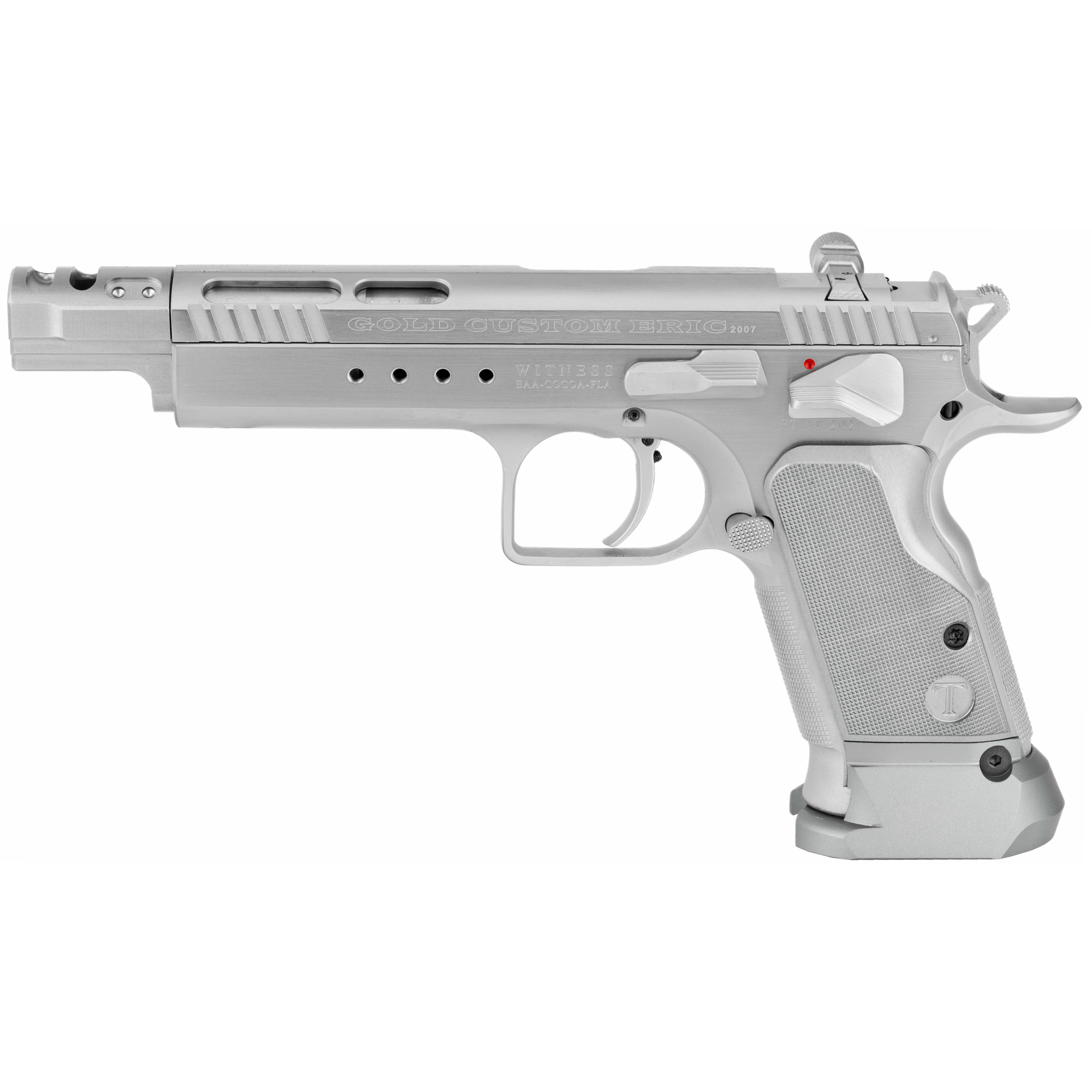 "Tanfoglio Witness Elite pistols have won almost every major competition pistol match in the world at one time or another. There is a reason for this. They work and shoot where you point and they are so comfortable to use"" you will look forward to practice."
