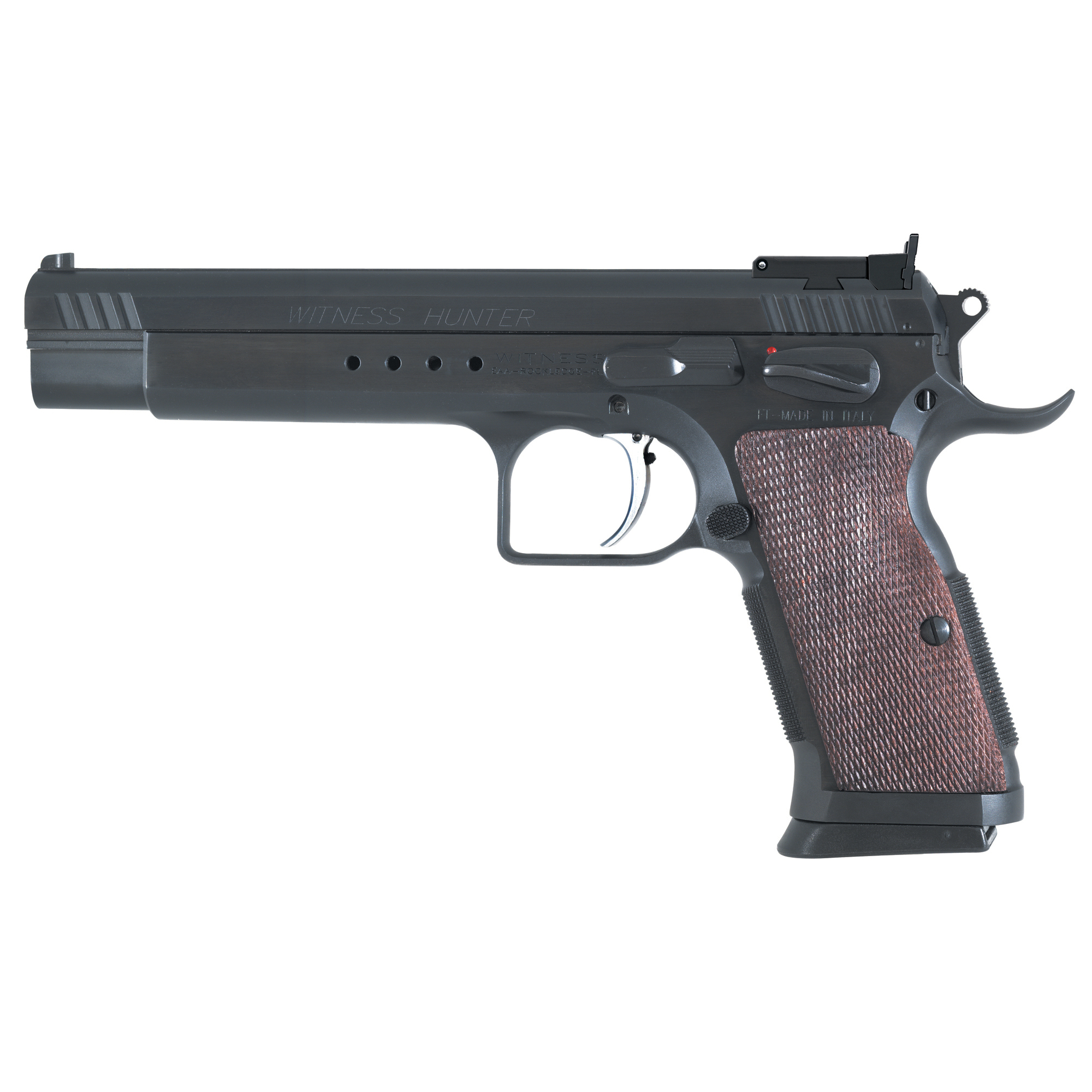 Been thinking about doing a little Pistol Hunting? Get a Witness Hunter and you will drop them where they stand. The Witness Hunter has a competition steel frame and competition barrel.