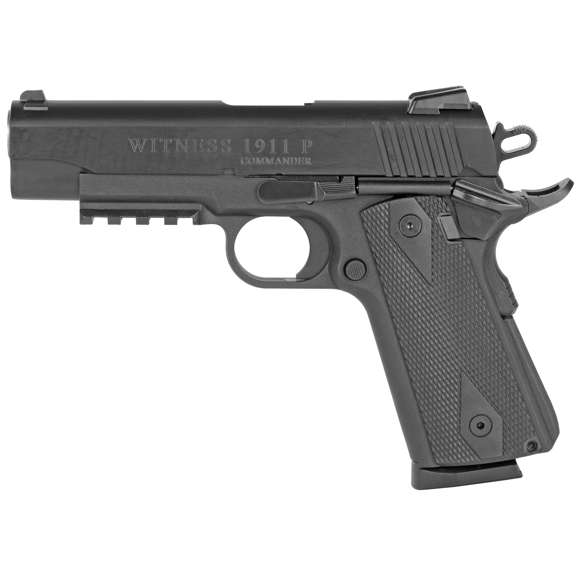 "Witness the FIRST Polymer Single Stack 1911 Pistol"" similar to that of the classic 1911 with the same dimensions and technical characteristics; ideal for Target Shooting"" I.P.S.C. and I.D.P.A. (SINGLE STACK or PRODUCTION CLASS) Competitions."