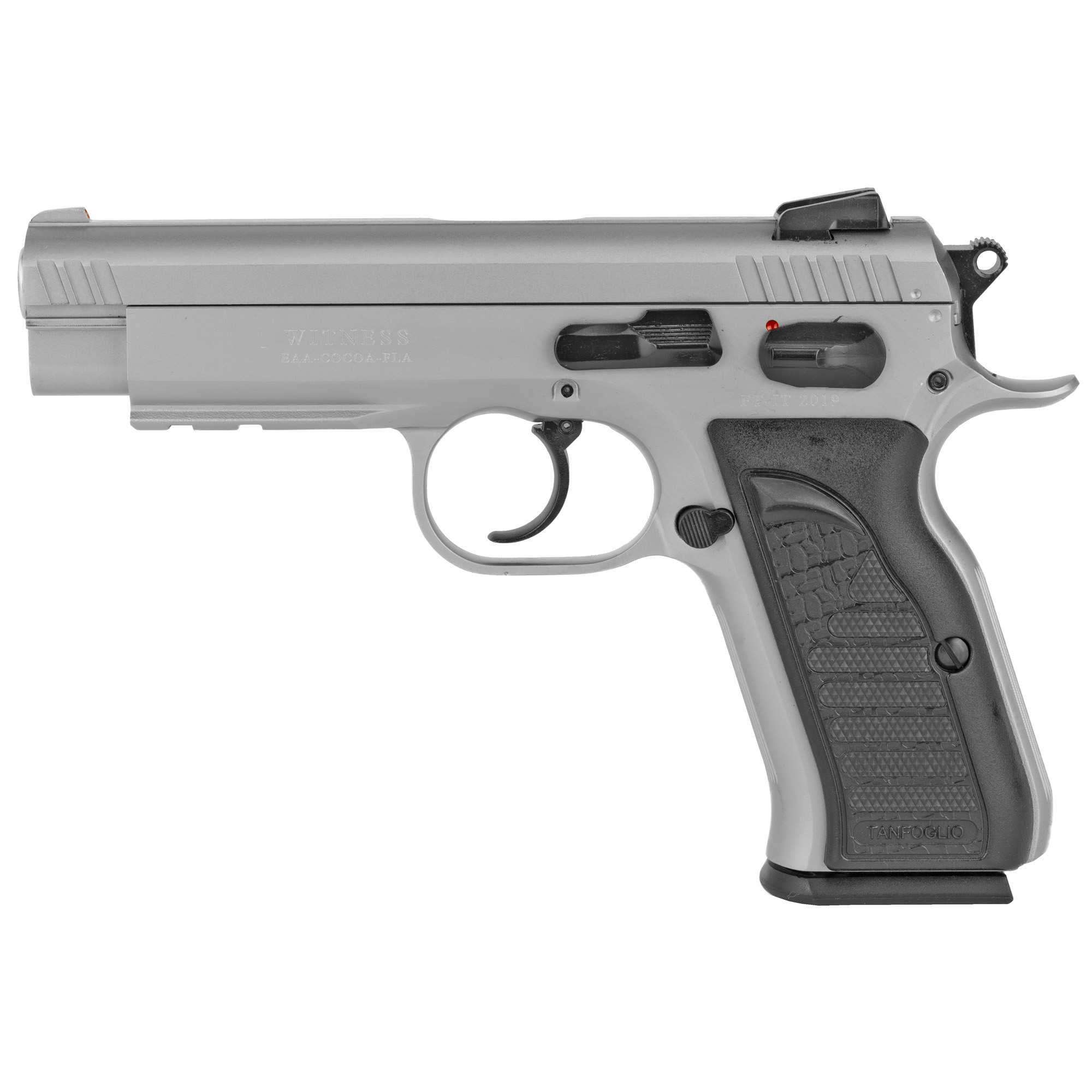 "Say you want a pistol for self defense"" home defense or lawful concealed carry. There are so many choices out there. You want a pistol that could be a carry gun as well as enjoyable to shoot and chambered in a caliber that can knock down an assailant. Get a standard Witness in steel!"