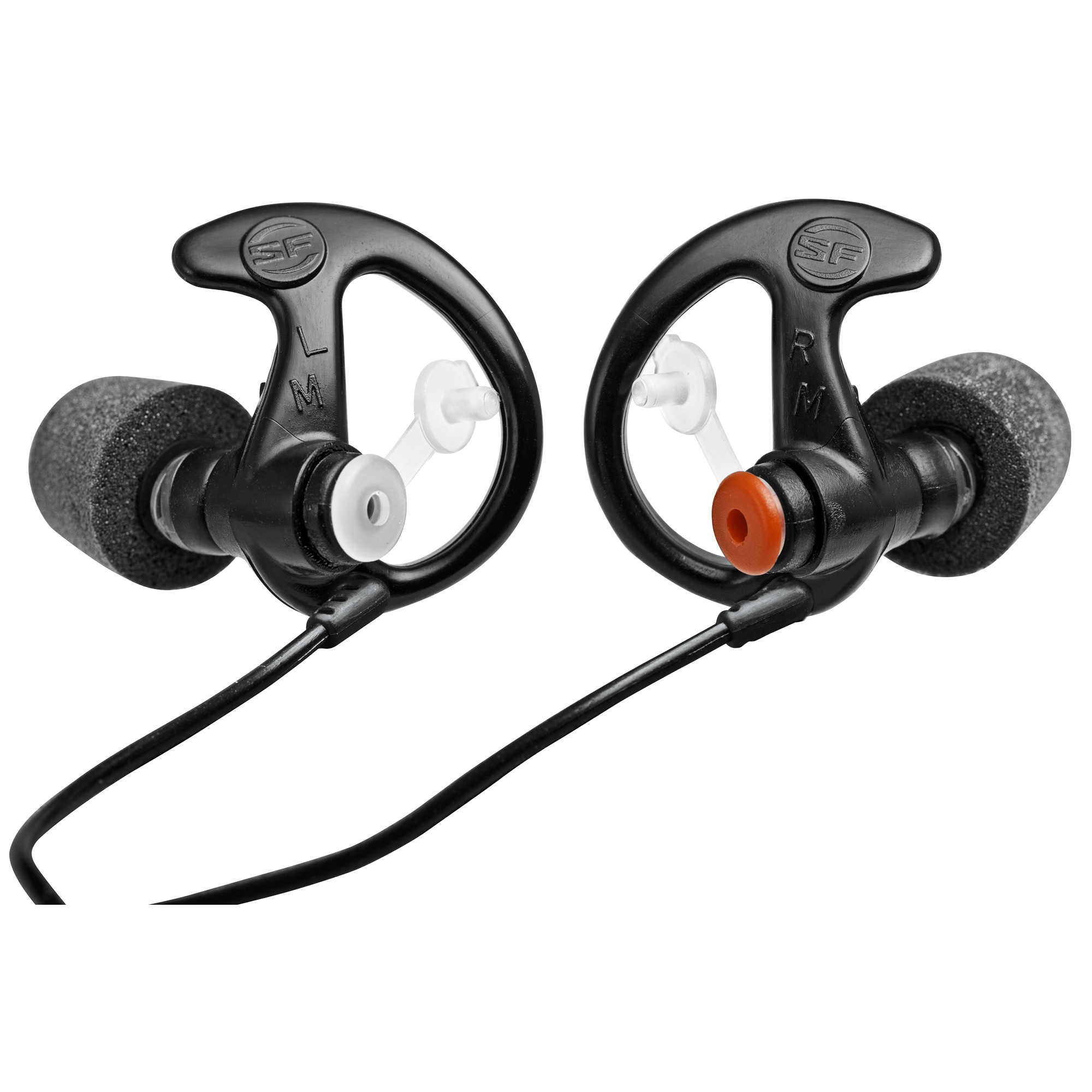 """SureFire earplugs were developed to protect military and law enforcement personnel from harmful sounds. In addition to offering protection"""" these filtered earplugs allow normal conversations to pass through. SureFire earplugs feature patented EarLock retention rings that provide a secure fit and all-day comfort."""