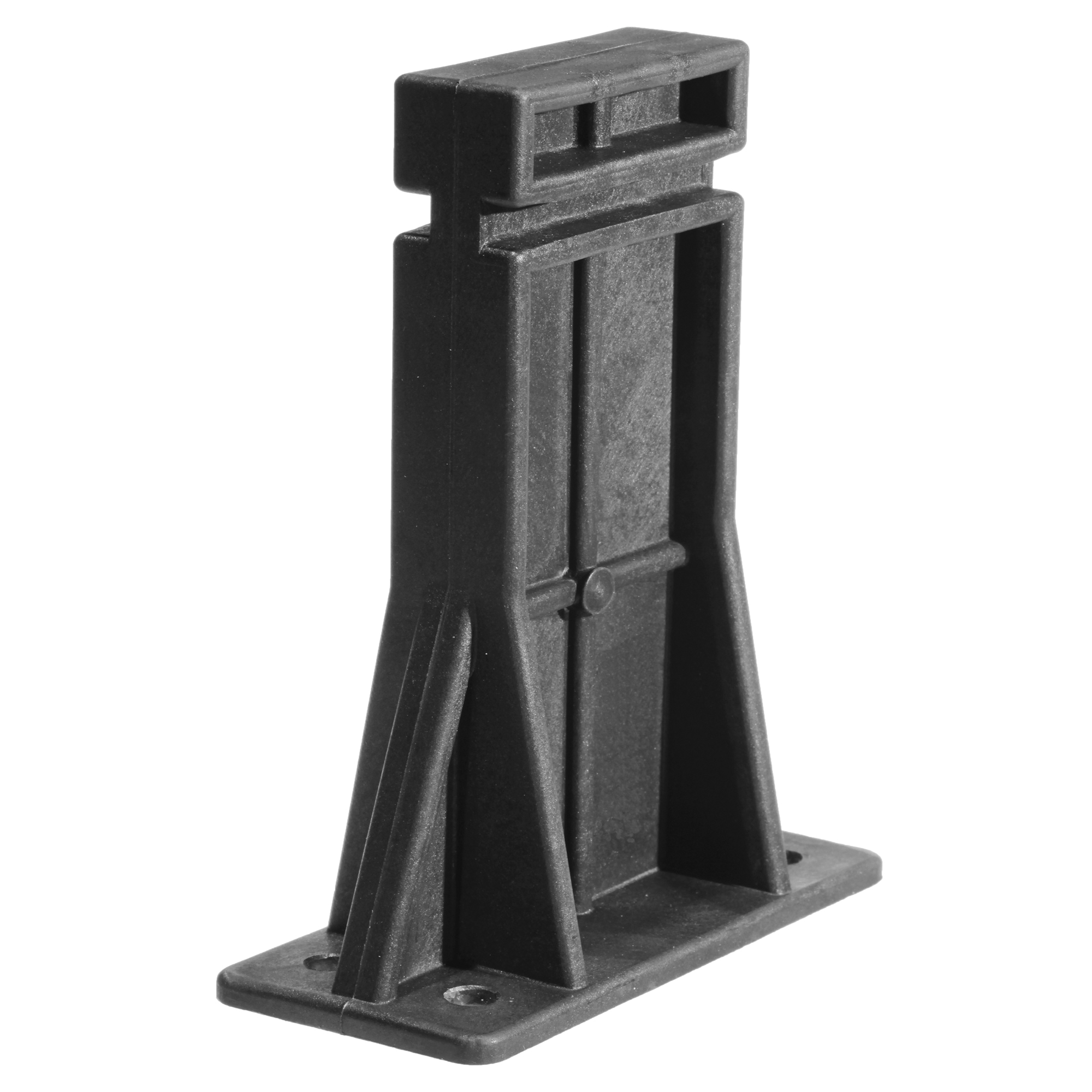 "This ERGO Armorers Block is one of the most useful maintenance accessories available for an AR-10. Simply bolt or clamp securely to a bench or other work surface"" place an AR rifle onto the block inside the magazine well and the rifle is held in place for cleaning"" maintenance or storage."