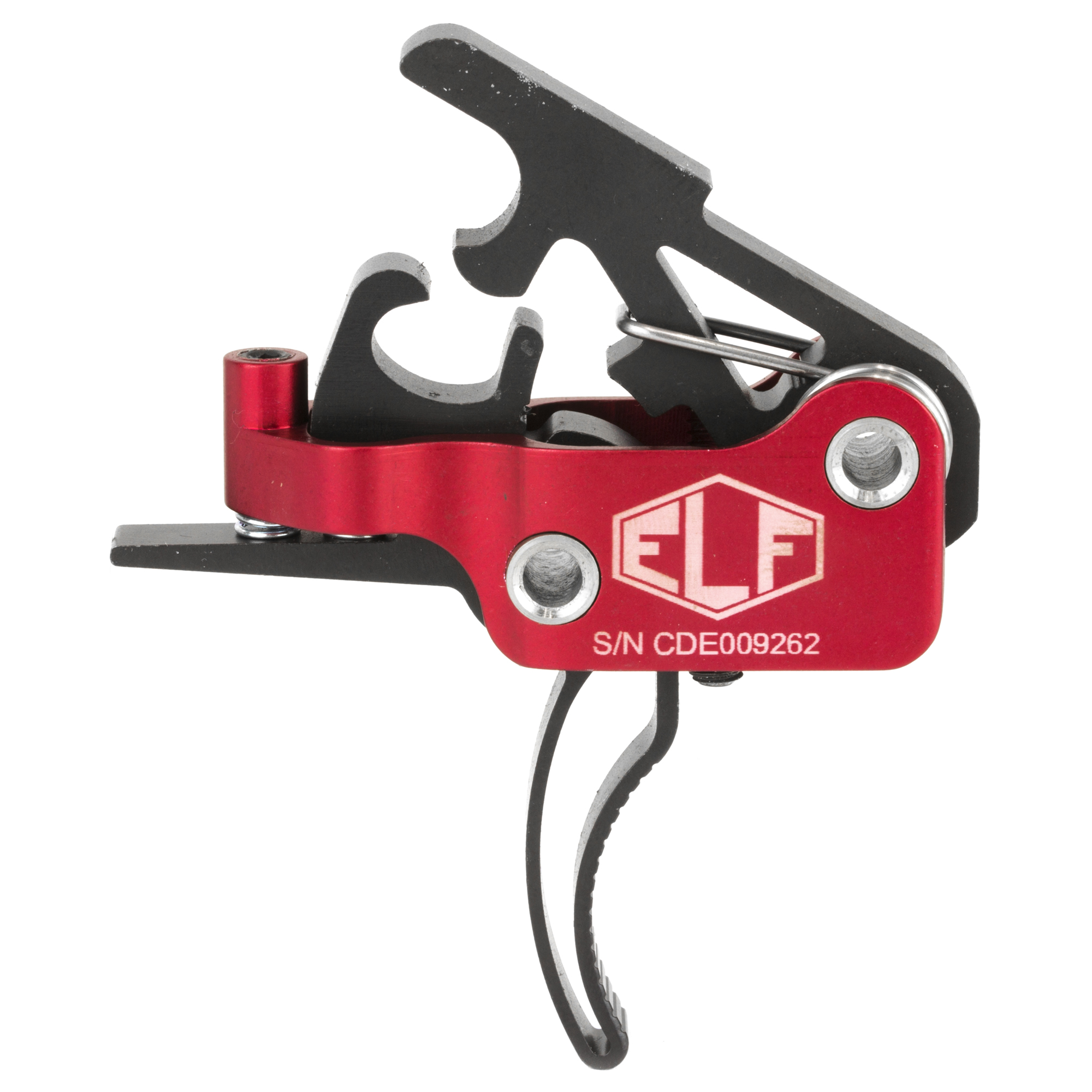 """The ELF 3-Gun Drop-In Trigger has been built for winning competitions. The only AR-15 trigger using aerospace grade sealed bearings"""" making for an incredibly smooth and fast trigger pull. The amazingly short take-up"""" glass-rod crisp break and next to zero over-travel can be compared to the finest custom 1911 triggers. Adjustability puts you in charge based on your current use. If you are looking for the finest adjustable trigger for your AR-15 platform"""" this is the trigger system for you."""