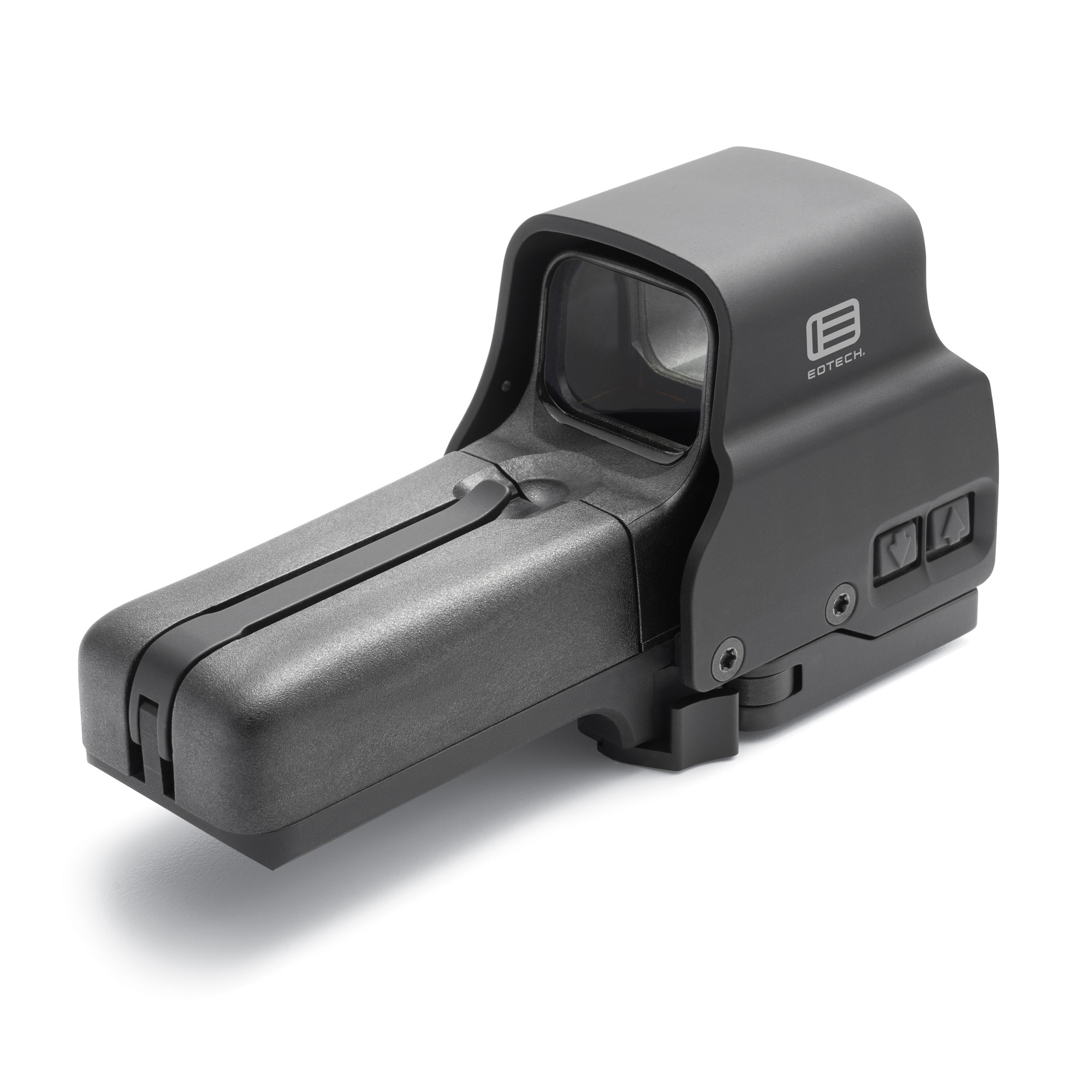 The best just got better. The 518 runs on easy to find AA batteries but offers all of the features found in EOTech's EXPS top of the line sight. With side button functionality you can reduce rail space when partnering the 518 with an EOTech magnifier. The 518 is also compatible with the new drop-in Laser Battery Caps that EOTech designed to enhance aiming through the use of visible and IR lasers.