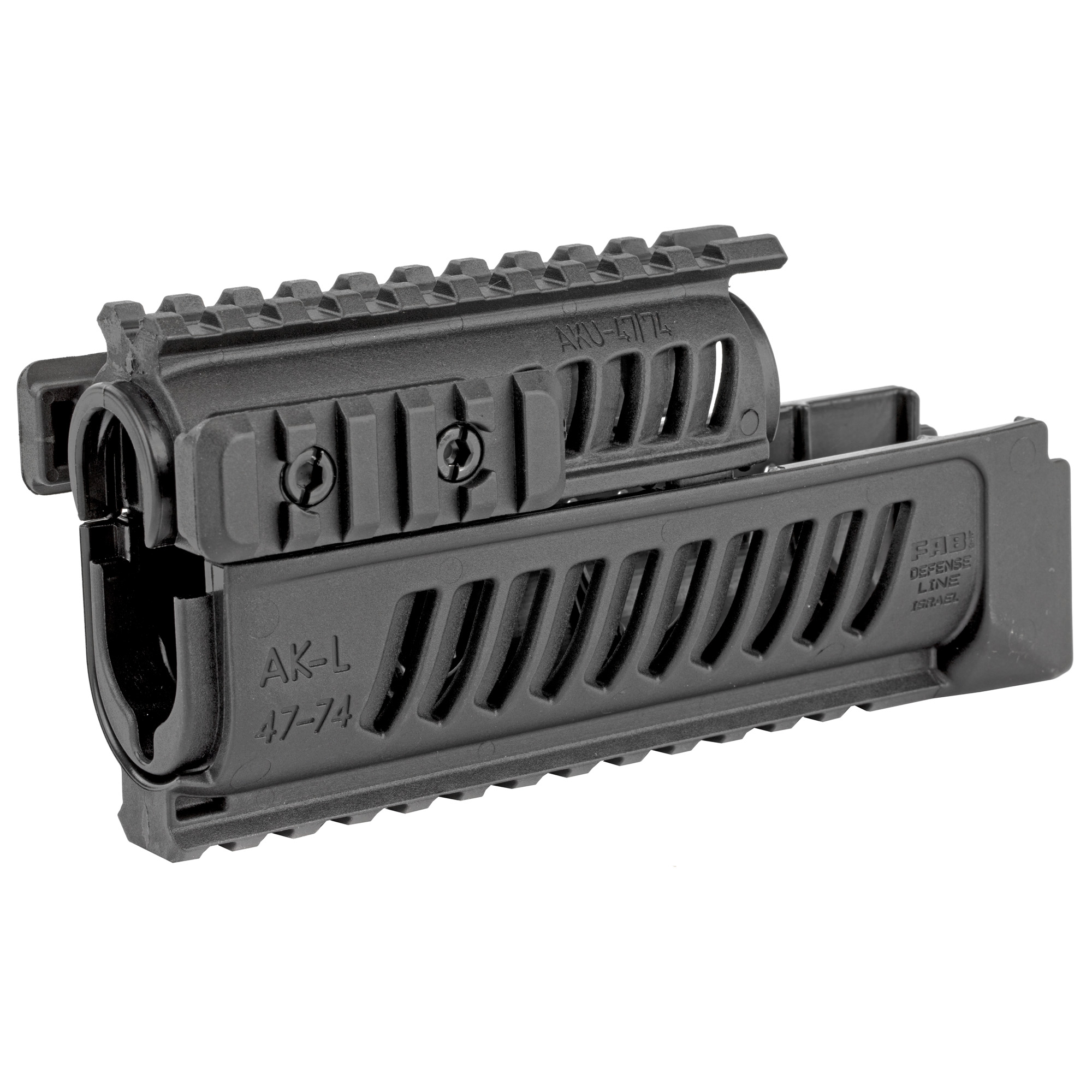 "The AK-47 is a light and durable quad-rail polymer handguard system for the AK 47 platform. It enables four picatinny rails for mounting of reflex sights"" foregrips"" bipods or any other 1913 picatinny based accessory."