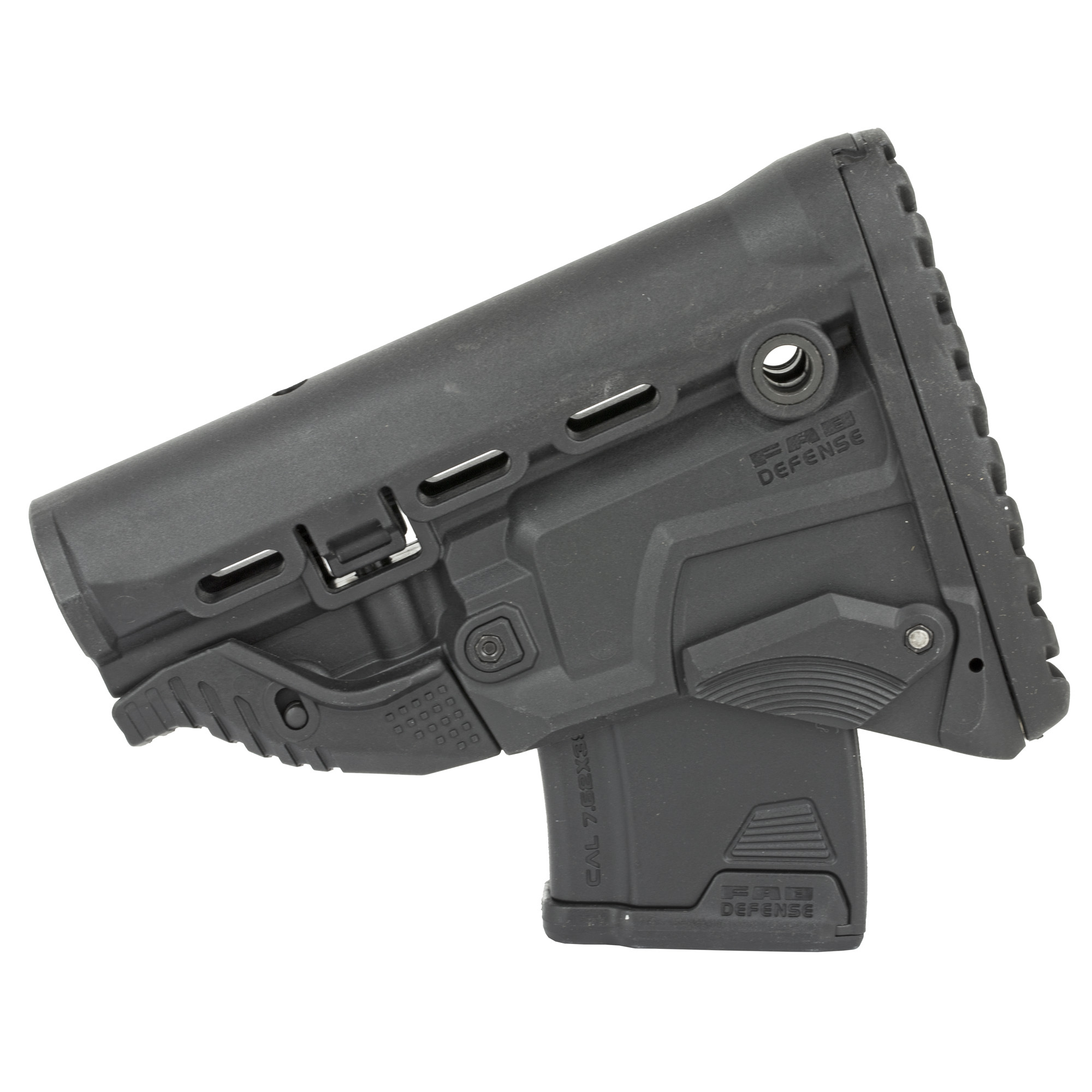 The GK-MAG Survival Buttstock w/built-in mag carrier whether it's your accuracy or numerous target engagements you can depend on your last ten chances with FAB'S Survival Buttstock w/Built-in 10 round Mag Carrier. The GK-MAG incorporates an inconspicuous/sleek AK Magazine Carrier.