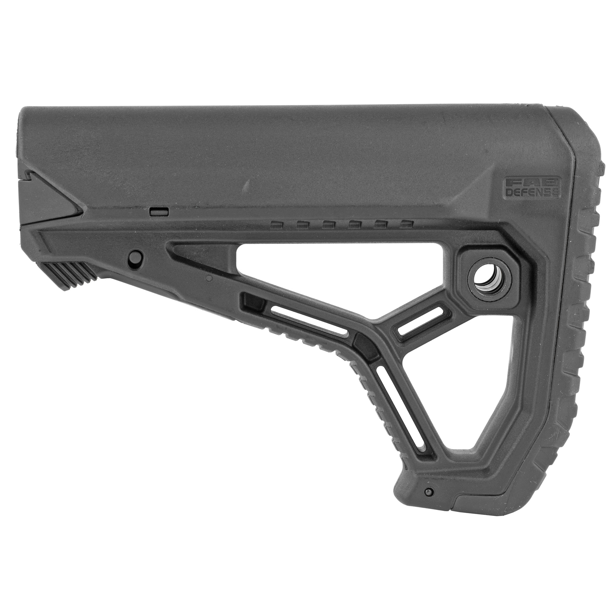 "The GL-Core is their newest addition to their line of buttstocks. The integrated cheek weld"" ergonomic buttpad and an interchanging tube adapter"" provide an unmatched fit on Mil-Spec and Commercial buffer tubes"" with a high level of efficiency and comfort."