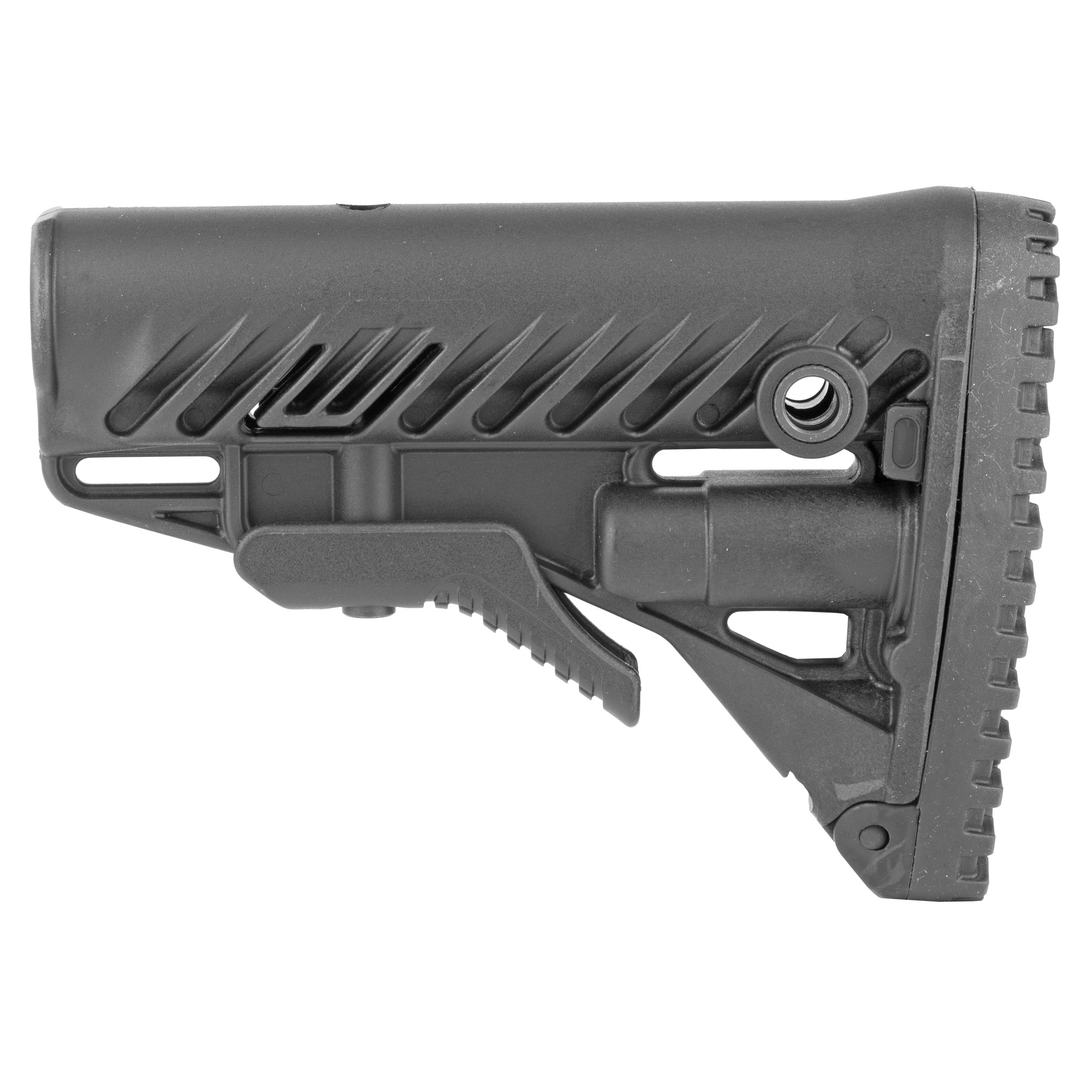 "The GLR-16 Buttstock for your AR15/M16 provides you with enhanced versatility with it's stock extension and optional adjustable Cheek Rest. It has a uniquely designed rubber butt pad for fast and stable shoulder positioning. There are three integrated slots for sling attachment"" one in the front and two at the rear and two ambidextrous metal quick release rear sling mount points."