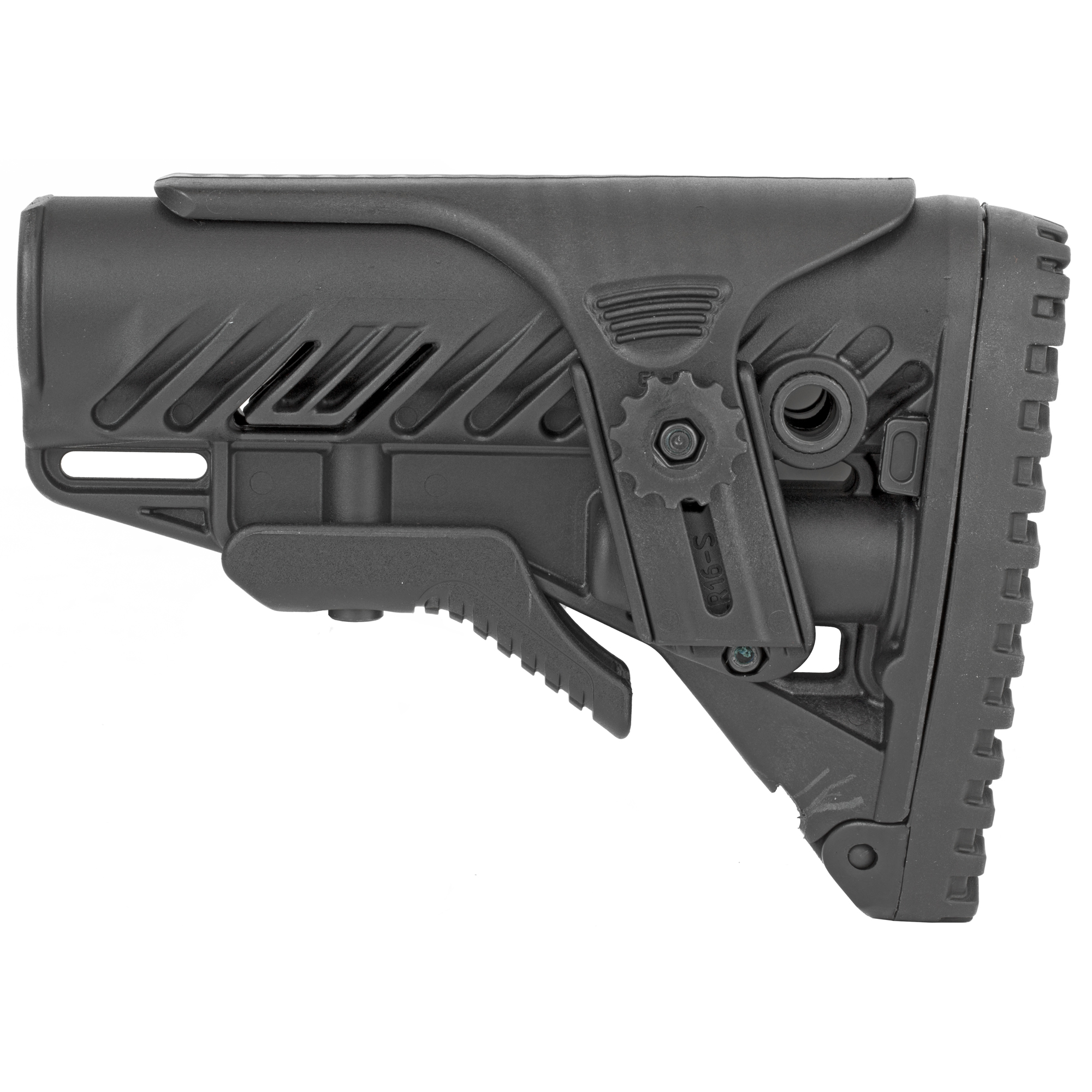 "The GLR-16 Buttstock for your AR15/M16 provides you with enhanced versatility with it's stock extension and adjustable Cheek Rest. It's non-slip unique traction design rubber butt pad"" allows fast and stable shoulder positioning. There are three integrated slots for sling attachment"" one in the front and two at the rear."