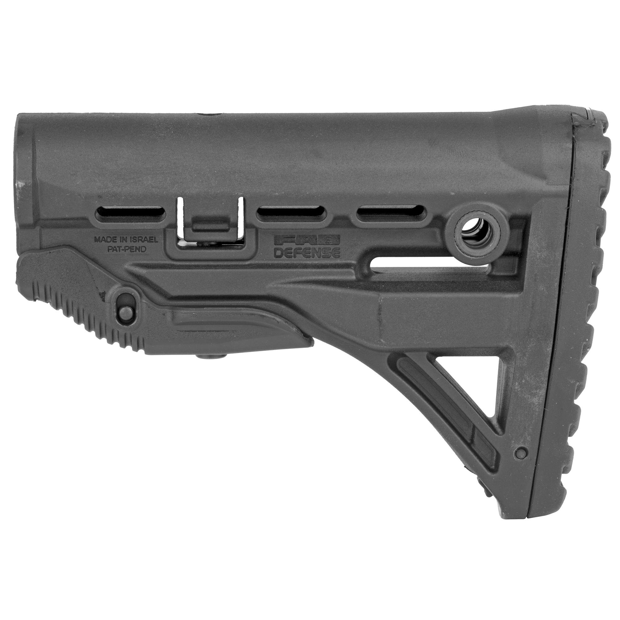 The revolutionary patented 'GL-Shock' absorbing Buttstock contains a recoil-reducing mechanism with a built in premium silicon chrome alloy spring creating a State-of-the-Art stock for your M4/M16.