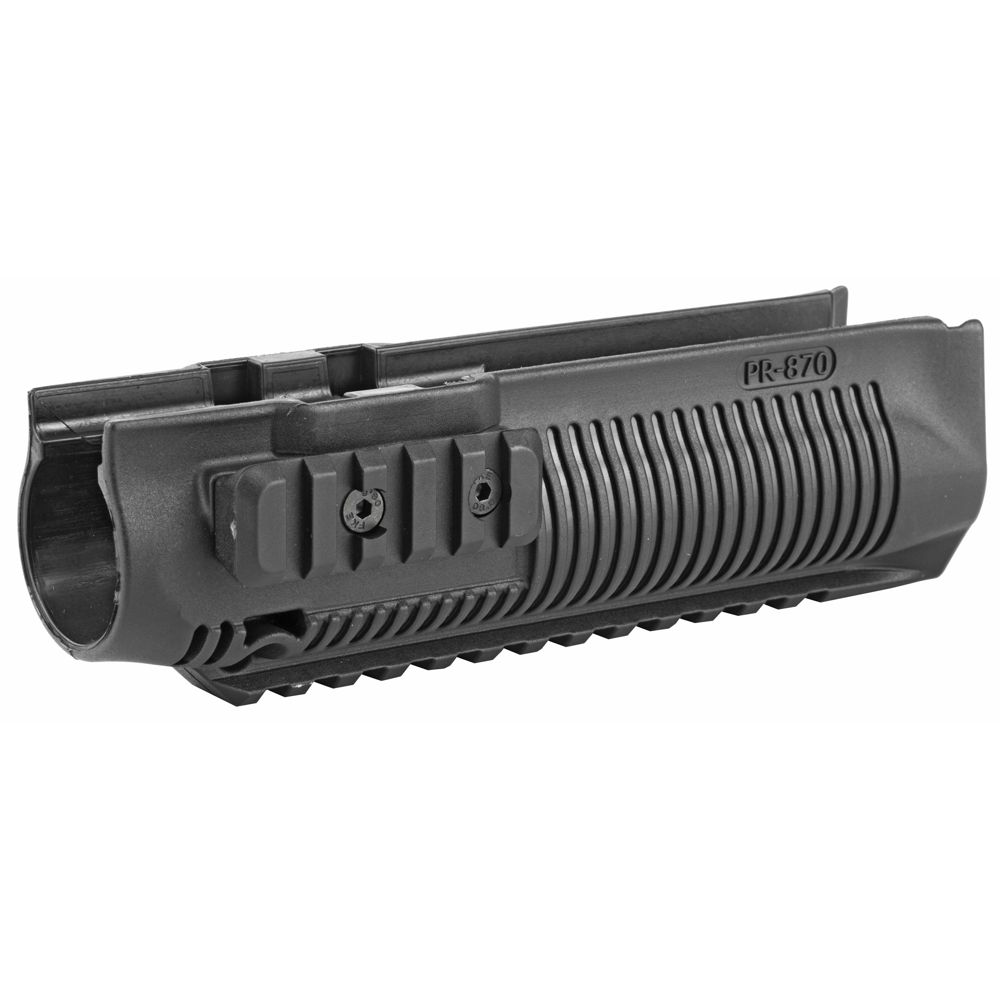 "The PR 870 with it's three Picatinny compatible rails"" enhances your weapon's mounting versatility."