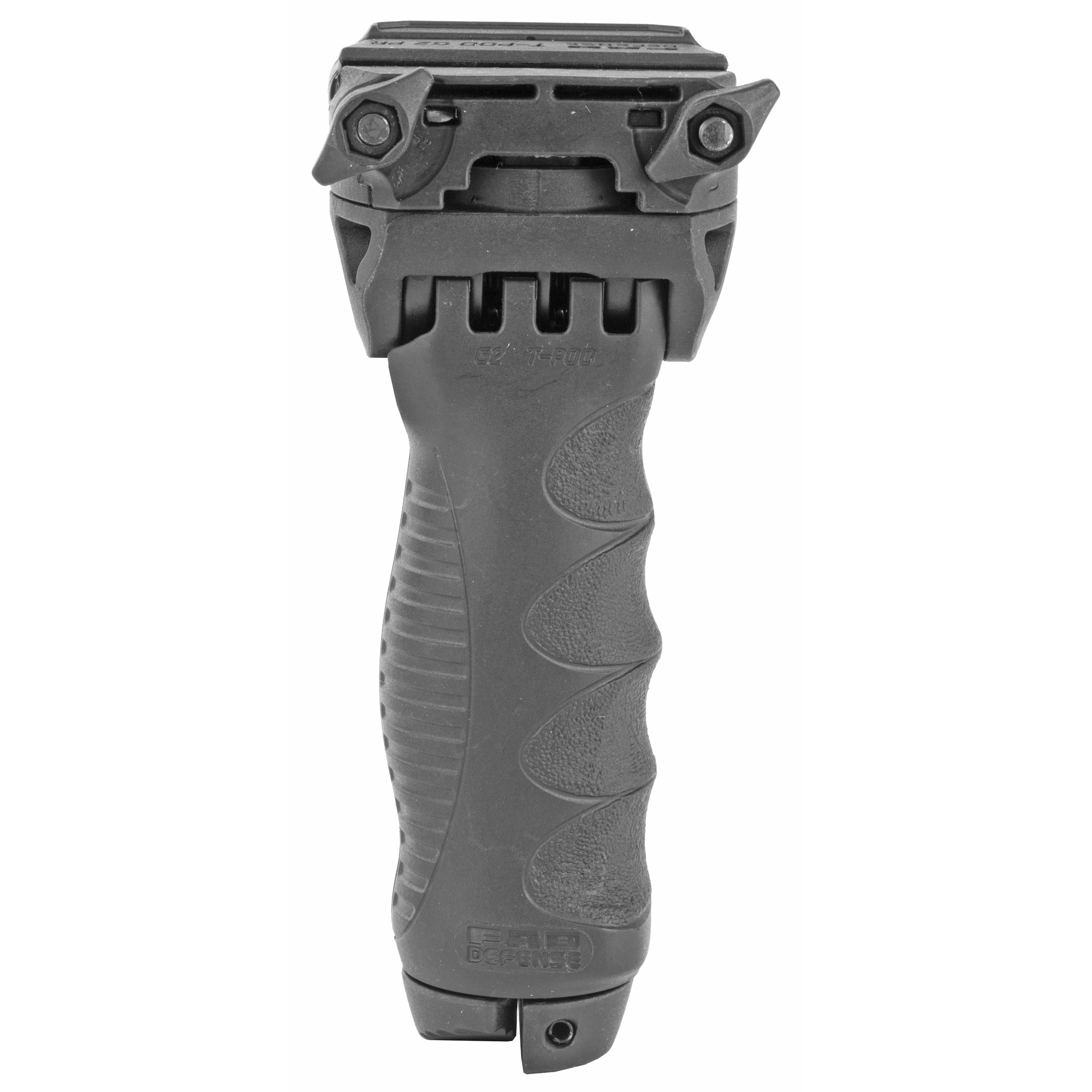 FAB's new uniquely designed T-POD-G2 Rotating Tactical Foregrip & Bipod transforms foregrip into a fully functional Bipod by the push of a button. The head features a unique Rotating and tilting mechanism and there is a built in adjustable pressure switch mount.