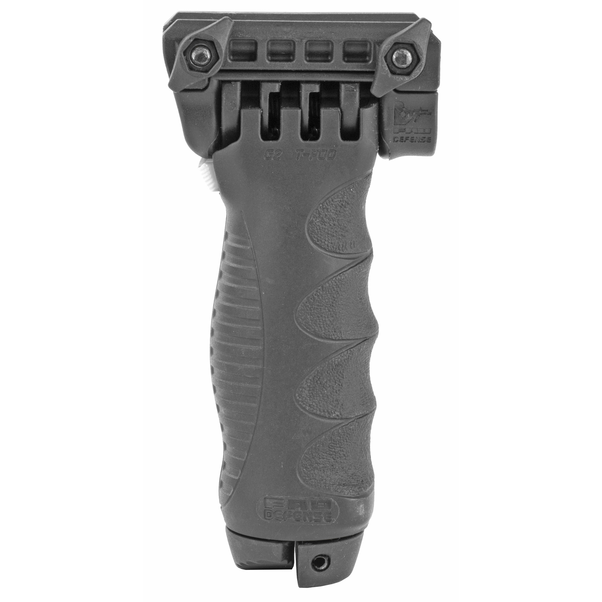 The T-POD G2 QR is a State-of-the-Art Foregrip that swiftly transforms into a fully functional Bipod by the push of a button. It's wide angle leg opening offers stability and enhancing combat positioning. It is built for quick transition from close range engagement to longer range precision targets.