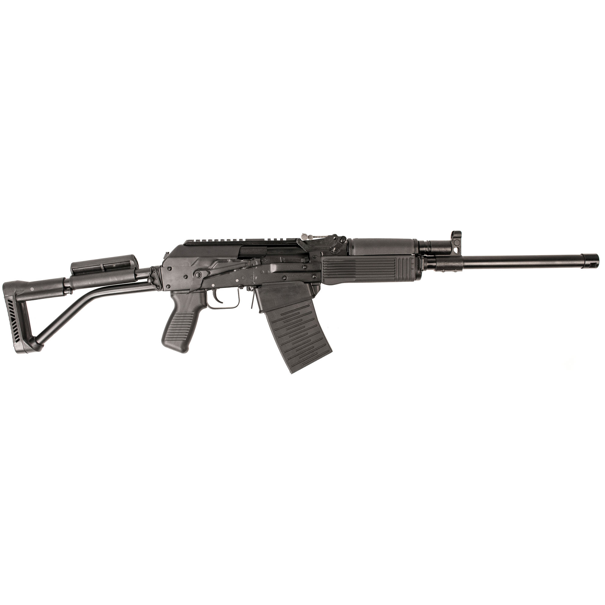 """Own a piece of Russian legacy before it's gone. Modeled after the iconic Kalashnikov rifle"""" the Russian semi-automatic VEPR-12 was specifically designed for law enforcement"""" military"""" and competition. The VEPR-12 features an ambidextrous safety and improved ergonomics that reduce recoil."""