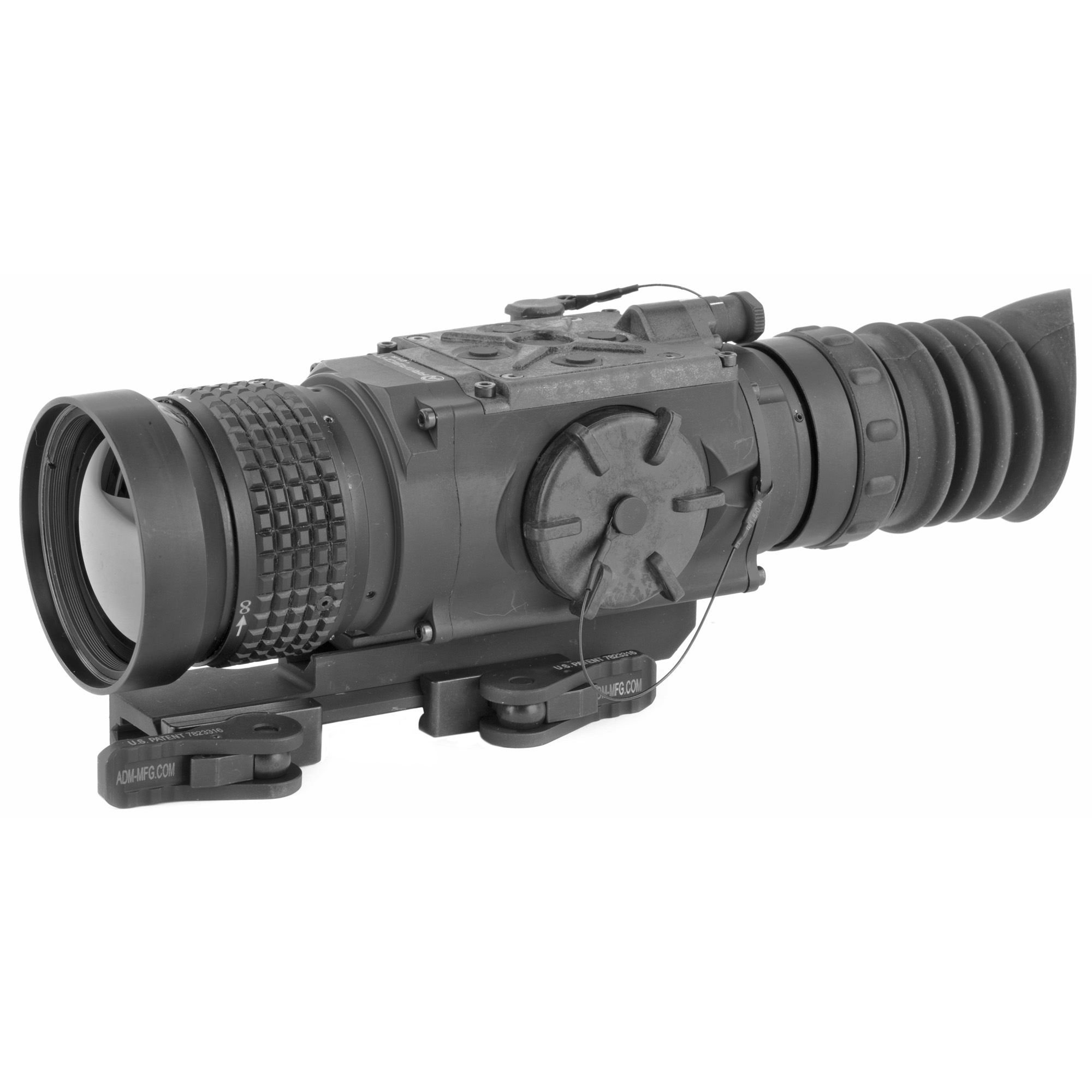 """The FLIR Zeus Pro thermal weapon sight offers a digital inclinometer"""" electronic compass"""" and multiple ballistic drop reticles for accuracy on long-range targets. Intuitive controls make range estimation and target orientation simple while onboard algorithms and user-controlled reticle adjustments work in tandem to deliver precise shots on-target"""" day or night."""