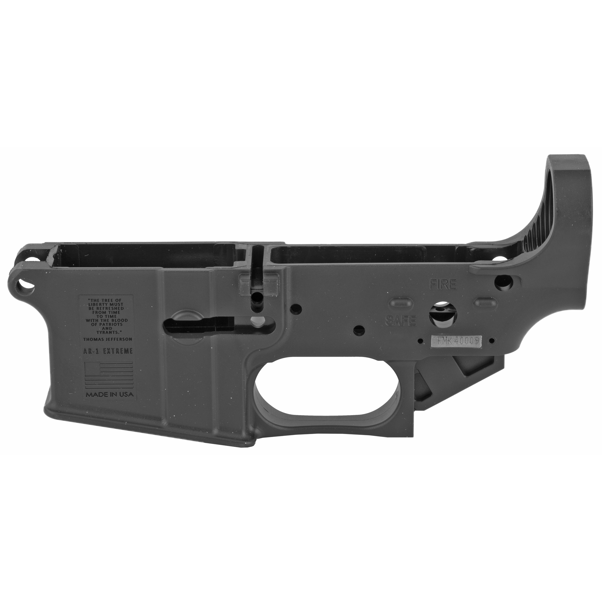 """This state of the art polymer allows for superior strength"""" unmatched durability and is extremely lightweight at only 4.3oz. The AR1 extreme is by far the strongest composite polymer lower on the market today."""