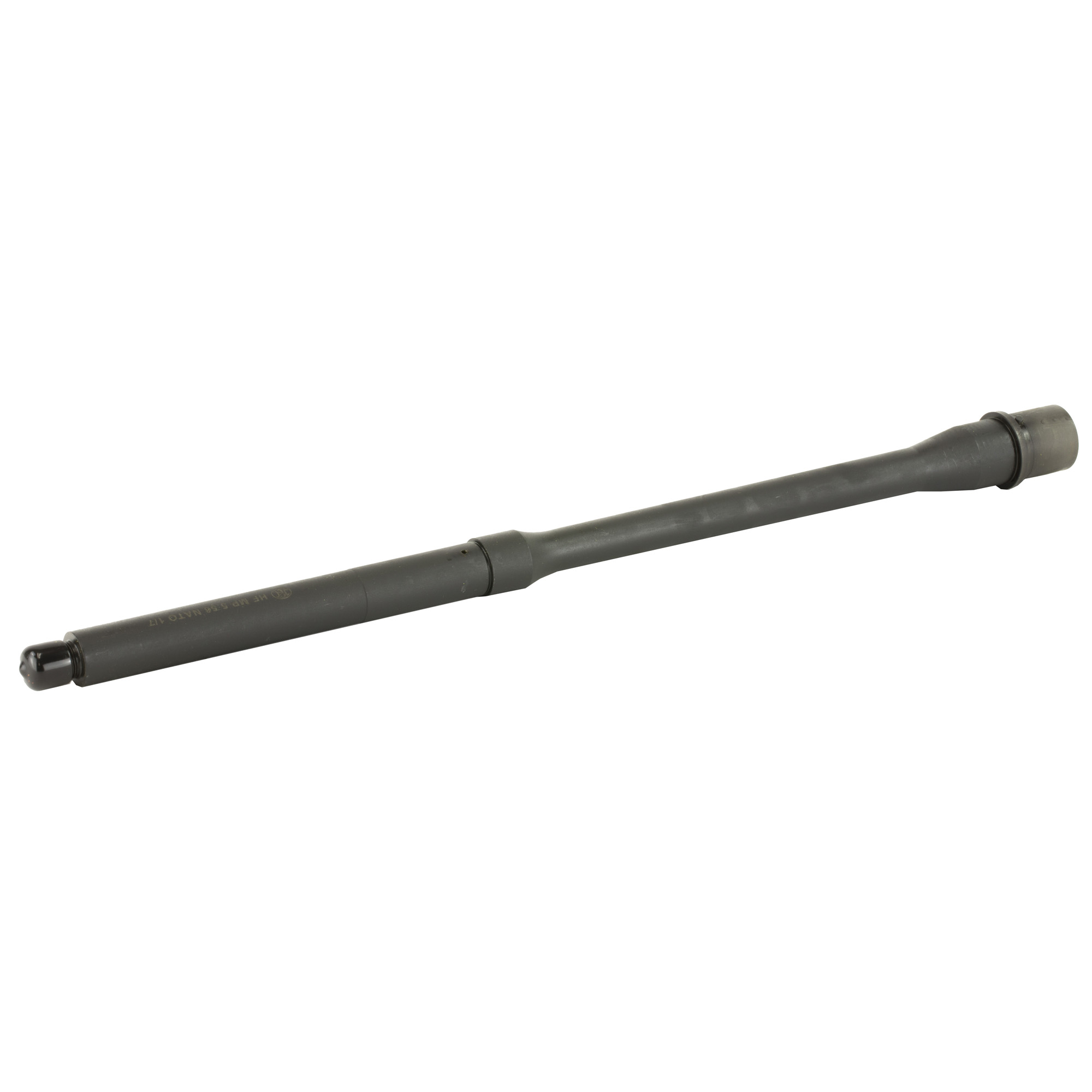 """FN AR15 barrels are hammer forged using the same proprietary high-grade Chrome Moly Vanadium steel used in FN's venerable machinegun barrels produced to handle the punishment of sustained fully automatic fire. After forging"""" each barrel is Magnetic Particle tested to ensure that it is free of micro stresses or flaws"""" resulting in consistency and quality in every barrel shipped from the factory. The bore and chamber are chrome lined to help resist corrosion and provide resistance to heat erosion which greatly improves barrel life and reliable chambering/extraction. The M4 style feed ramps and barrel extension provide consistent feeding and the matte black Manganese Phosphate finish resists external corrosion and oxidation."""