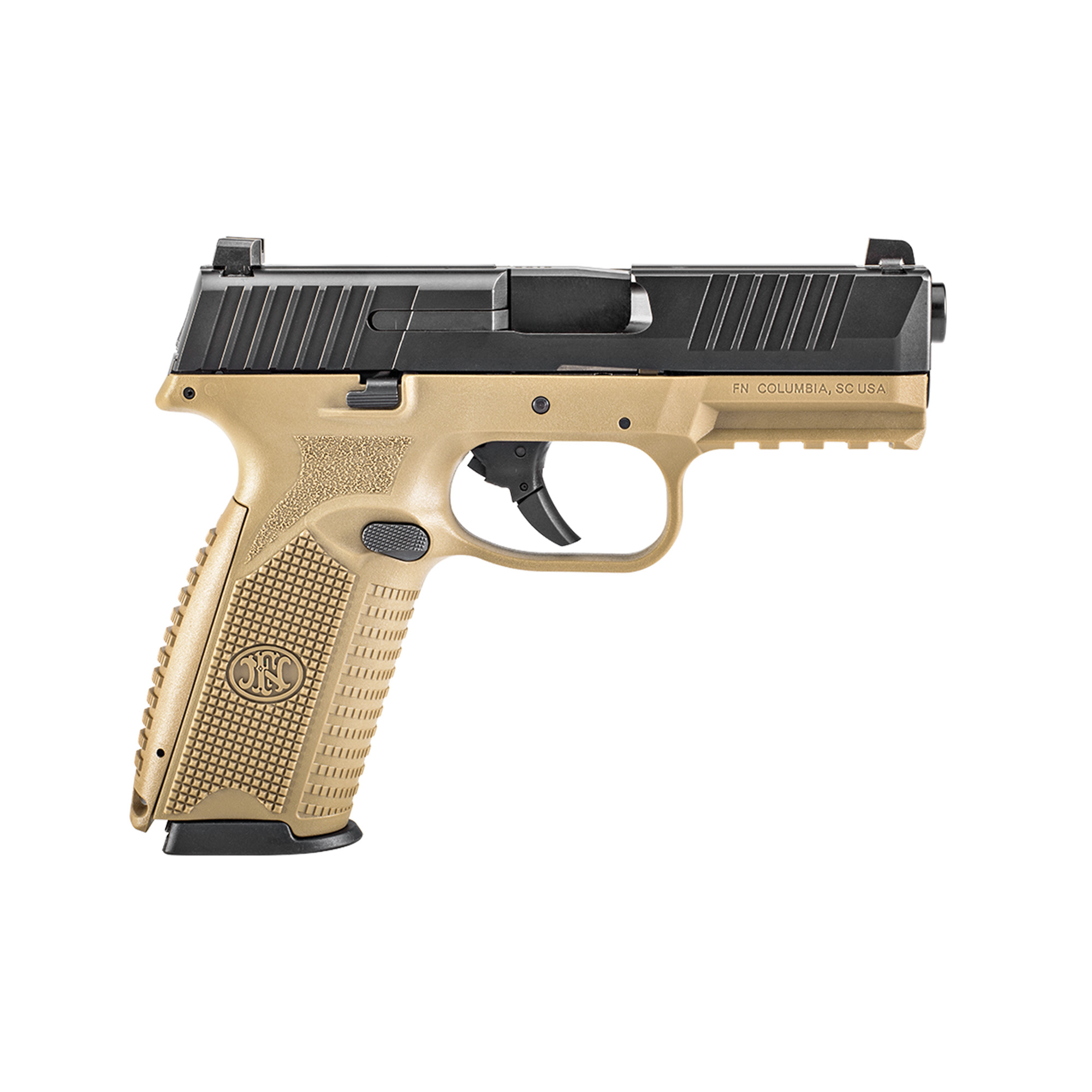 """The FN 509(R) is built on the proven architecture of the FNS(TM) Compact. FN made changes internally and externally to meet the rigorous performance standards of the MHS requirements and further developed the platform into the FN 509(R). Over the course of development"""" the platform has been tested extensively for reliability"""" ammunition compatibility and durability - totaling more than one million rounds."""