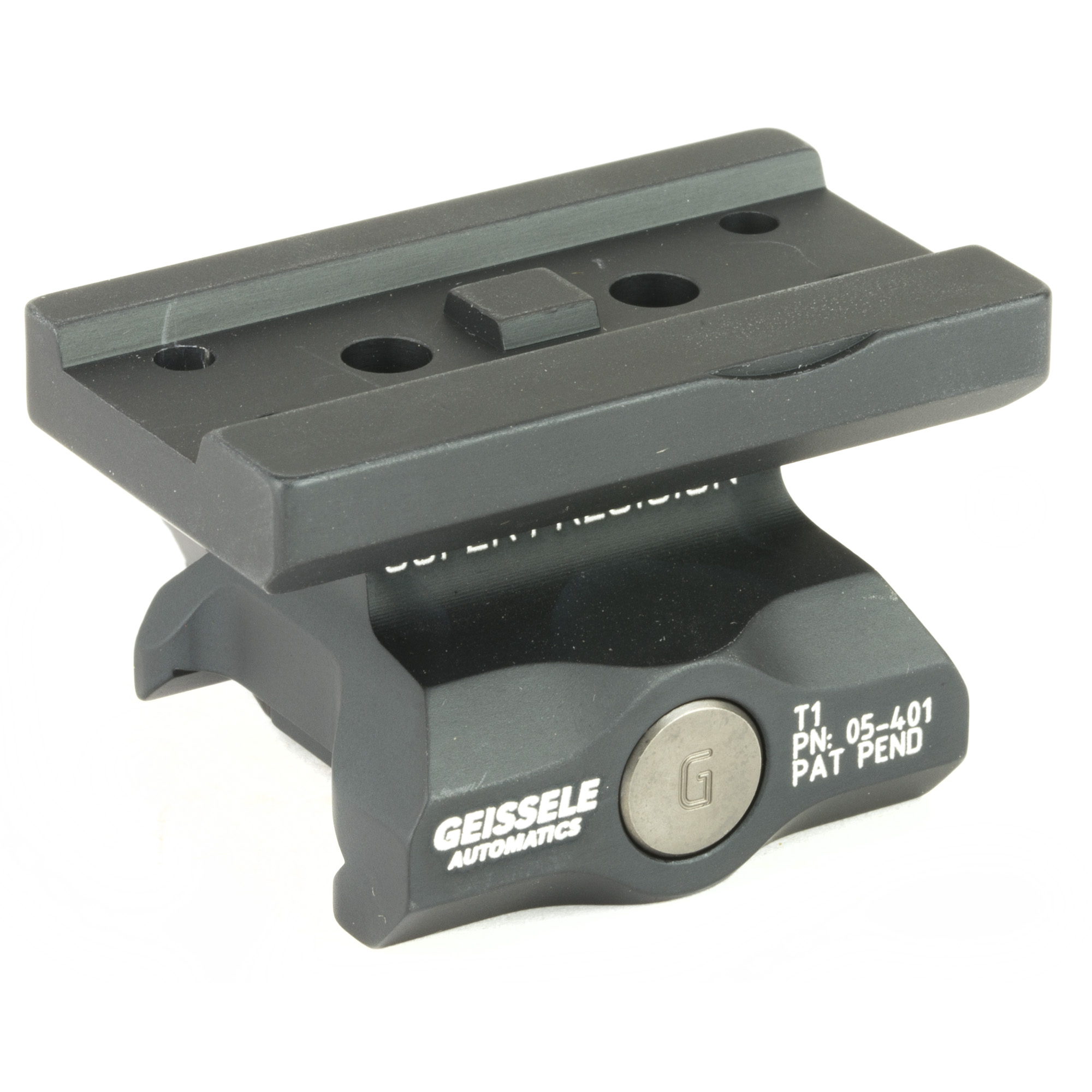 """The Super Precision T1 Series was developed specifically to work with the Aimpoint T1 and similarly mounted red dot optics. These mounts are precision machined from a single piece of 7075-T6 high strength aluminum. Utilizing Geissele's update of the classic nut and bolt method"""" this mount will attach your red dot to your weapon with 1""""400 pounds of clamping force"""" and features 3 shear lugs for maximum rigidity and return to zero."""