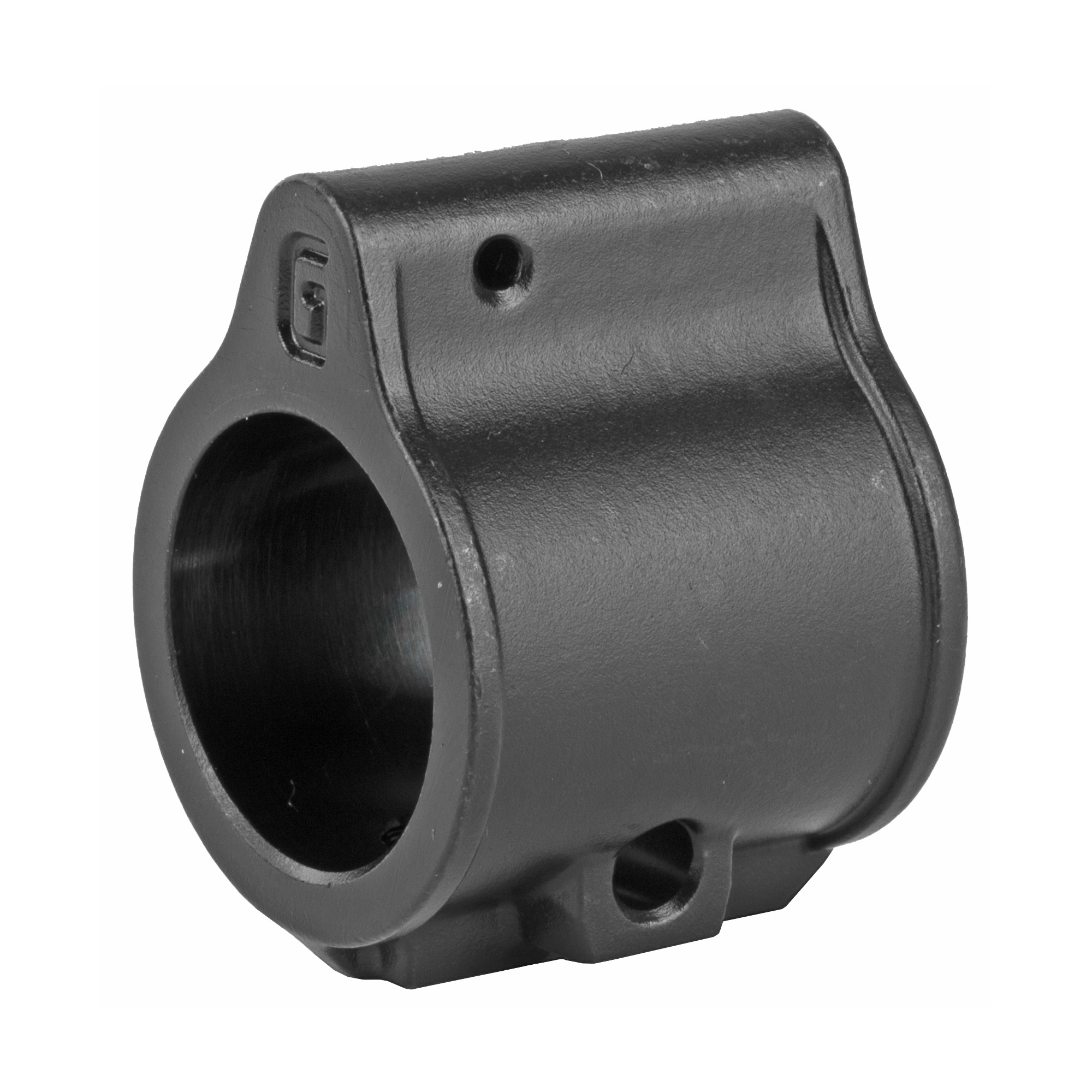 """Standard Super Gas Block Nitride - The bore of the SGB is machined to closely fit around .750"""" diameter mounting bosses found on most M4 Carbines and AR-15 rifles."""