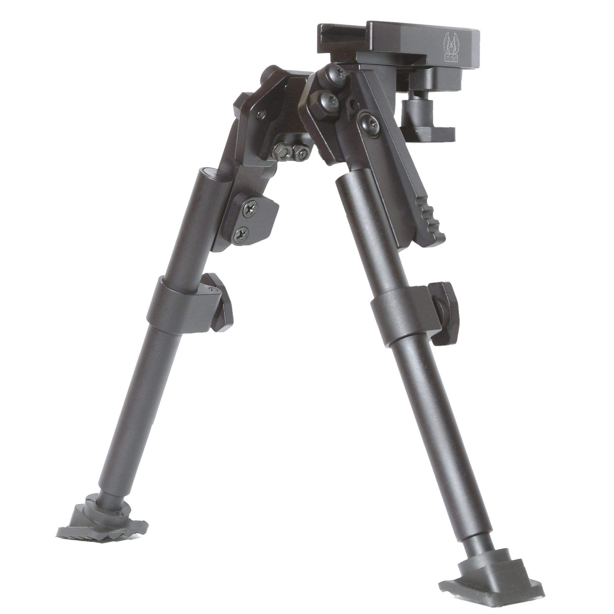 """GG&G's Tactical XDS Swivel Bipod for the AR-15 and M16 offers a greater range than previous versions. In addition to a stronger pivot mechanism"""" the new folding AR-15 bipod design affords 25 degrees of cant in either direction of center. Not only does this increase better rough terrain adjustability"""" but this pivoting capability allows the deployed bipod leg to be used as a vertical foregrip if required for rapid transition. In addition"""" a tension mechanism and adjustment knob has been added so that the operator does not need tools to make tension adjustments to the swivel. It is specifically designed and manufactured to meet current military requirements. It is exceptionally rugged. It will not only withstand extreme environmental conditions from -55 degrees Fahrenheit to +155 degrees Fahrenheit"""" but be operational under those conditions. With the bipod legs deployed it will withstand the military's three-foot drop test onto a concrete floor while mounted to an AR15/M16 or M4 carbine and maintain full battle capability. The quick-release bipod is equipped with a MIL-STD-1913 rail adapter that does not require tools for installation. GG&G's gun bipod will also attach to any rifle with a 6 o'clock under barrel MIL-STD-1913 or Weaver type rail."""