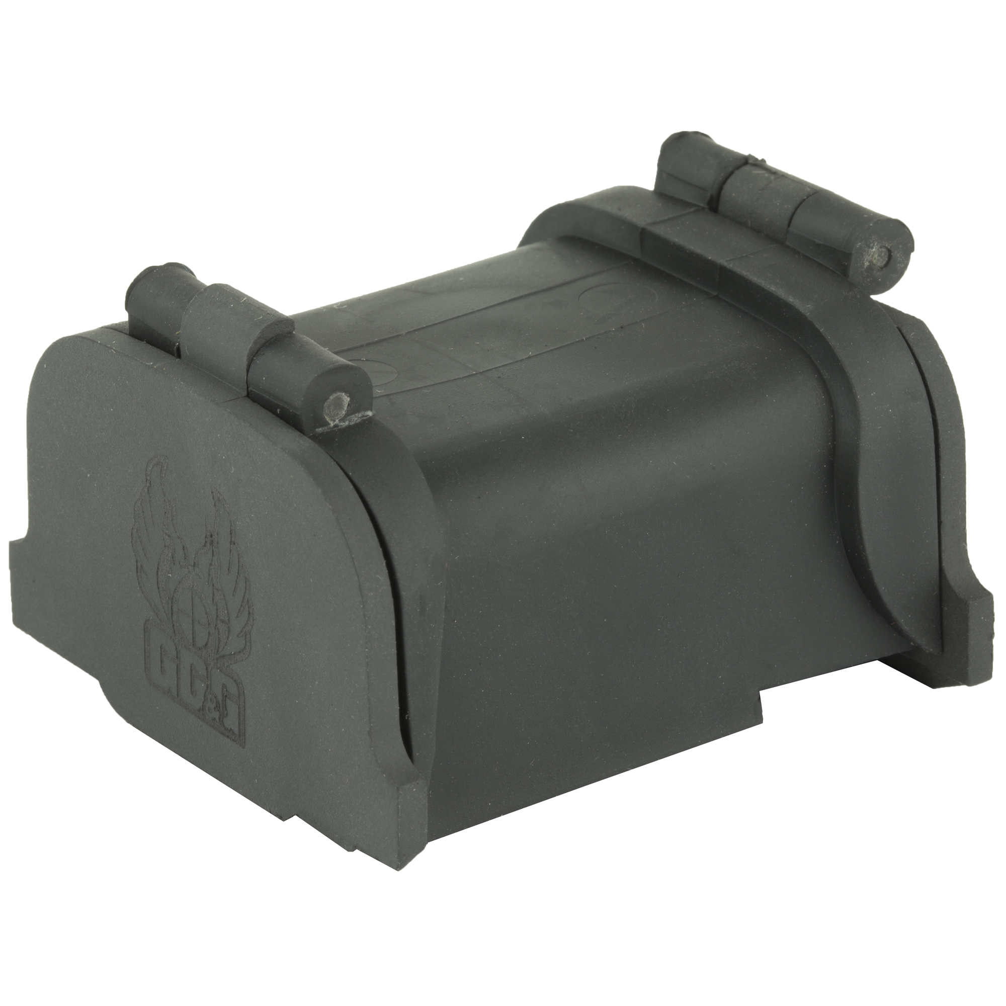 """GG&G continues to be the only manufacturer of Lens Covers For The EOTech XPS Scopes. These patented lens covers fit between the EOTech XPS2-0 and 3-0 hood and the body of the EOTech housing. They are spring operated so that once pressure is applied to release them from the closed position"""" they spring open. The rear cover lays across the top"""" so as not to interfere with the field of view. The front cover opens and serves as a sun shield. However"""" if heavy brush etc. is encountered"""" the front lens cover will fold back so that it is not damaged. Because of the contours of the EOTech housing"""" these covers are not 100% waterproof"""" but they do prevent most dust"""" debris"""" rain and snow from accumulating on the lenses."""