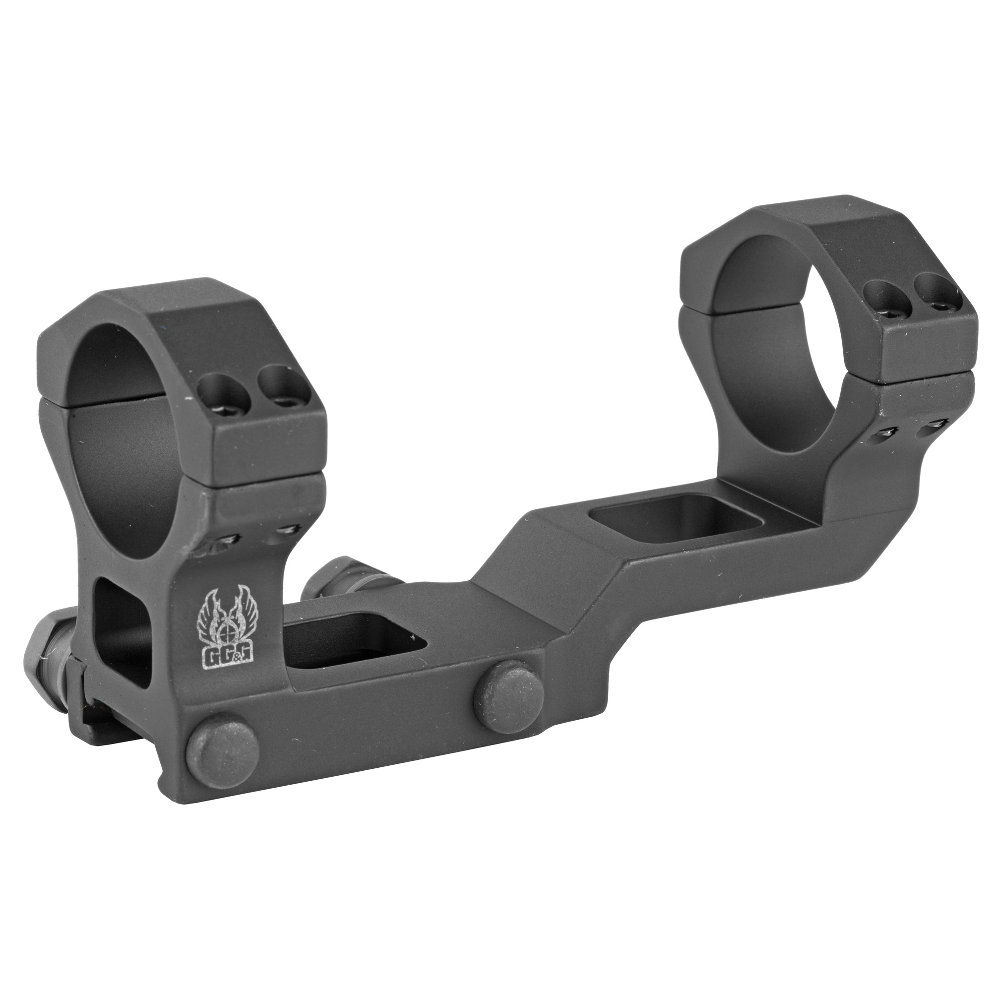"""The Special Purpose Rifle (SPR) has gained in popularity with shooters in the civilian and law enforcement community. GG&G's technical advisors suggested that the scope most often used on SPR rifles is a 30mm low powered variable optic placed forward on the AR-15/M16 flattop receiver. To meet the specific optic mounting needs of the SPR shooters"""" GG&G has introduced the GG&G FLT Scope Mount with 30mm Integral Rings."""