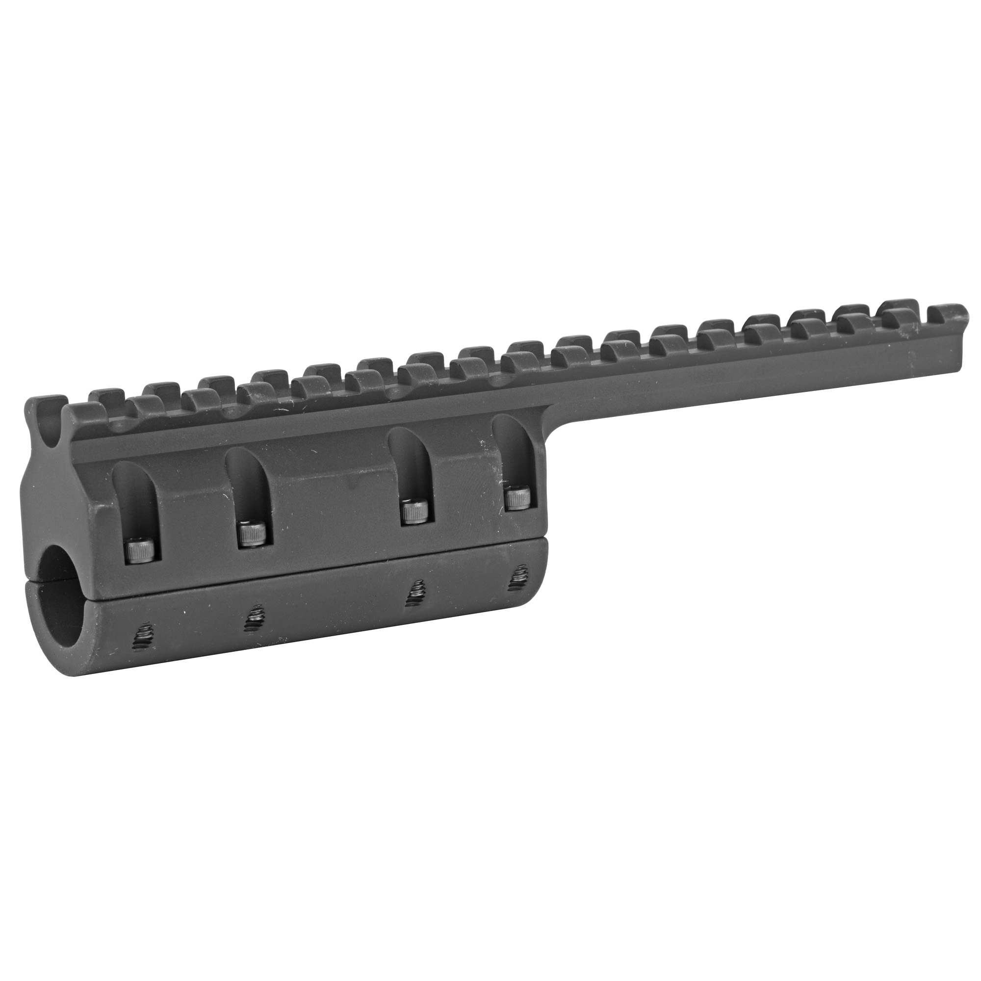 """The GG&G M1A Scout Scope Mount is perfect for setting up your rifle with a red dot scope or long eye relief magnified scope. It easily installs in the cut out of the upper factory handguard. GG&G cut a large channel in the rail so that the iron sights could be used with the scope in place. Specifically designed for the M1A """"Scout Squad"""" or """"SOCOM 16"""""""" with cutout factory top handguard."""