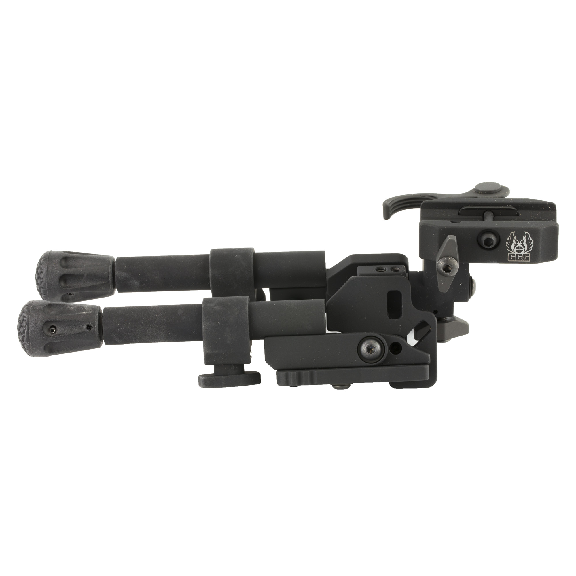 """GG&G's XDS-2C Quick Detach Tactical Bipod features lower positioning to accommodate shooting from the prone position or bench"""" a head that pans or swivels (20 degree degrees of panning capability to the left and right of the center position) a head that cants from side to side (25 degree degrees of canting capability each side of center)"""" bipod legs that lock forward at a 45- degree angle for difficult terrain"""" and durable grippy rubber feet that grip more surfaces and are replaceable. In addition"""" we designed and manufactured the Quick Detach XDS-2C to accommodate the M14"""" AR-10"""" AR-30 and other large caliber rifles and carbines. When the Tactical Bipod legs are deployed and locked in the straight down position they can be independently adjusted from 7"""" to 8 1/2""""."""