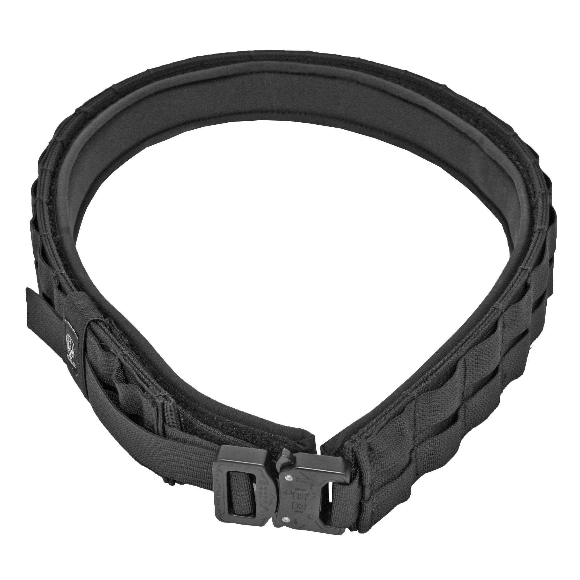 """The """"UGF"""" Belt is a light weight two piece platform. Specifically designed with the shooter in mind. Gone are the days of cumbersome oversized """"Battle Belts"""" and wearing multiple belts to the range. This """"inner/outer"""" belt system features a padded comfortable 1.5 inch inner belt and a 2 inch outer belt with multiple attachment points making it fully customizable. The sturdy hook and loop strips keep your tools of the trade secure and right where they need to be."""