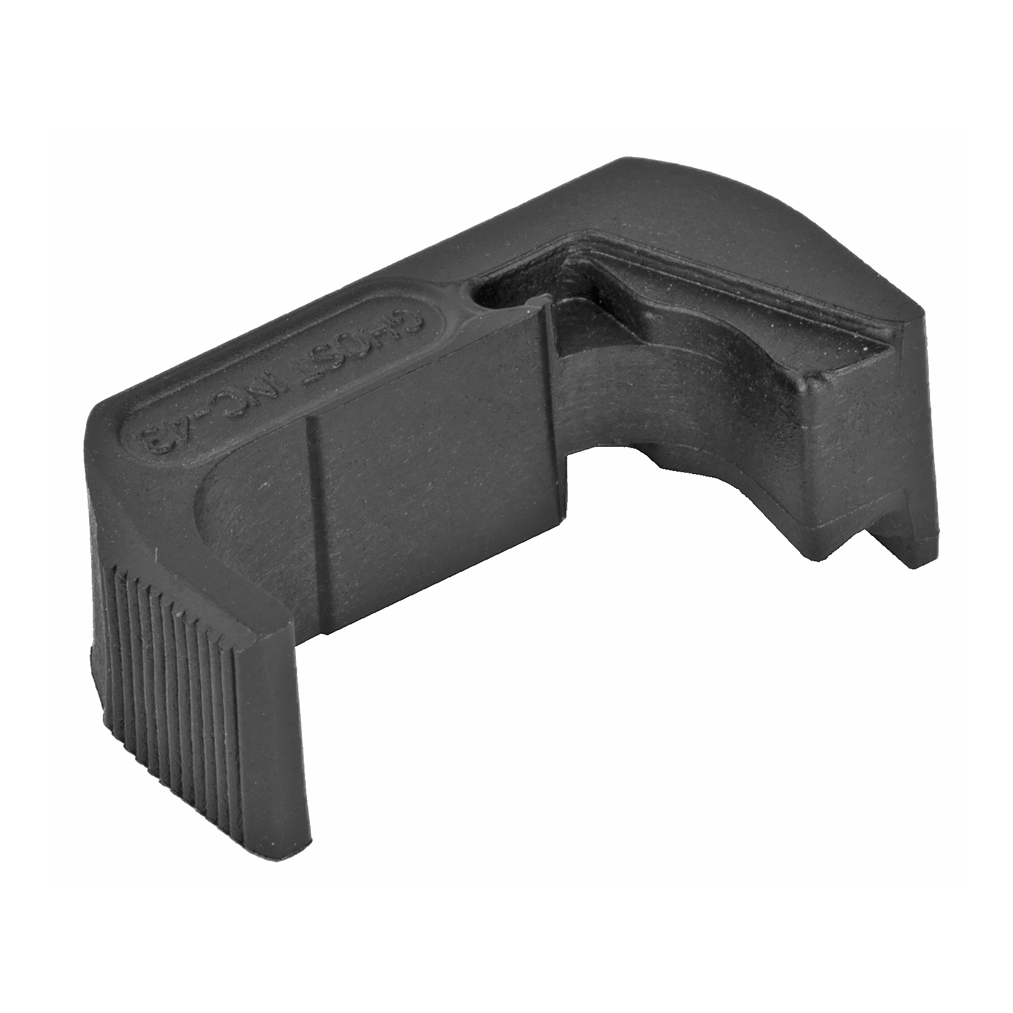 The Ghost Extended Magazine Release is designed so that you can drop a magazine without changing your firing grip and so you do not have to modify your Glock's frame. It is designed to give you the maximum surface area possible for comfort and speed of release.