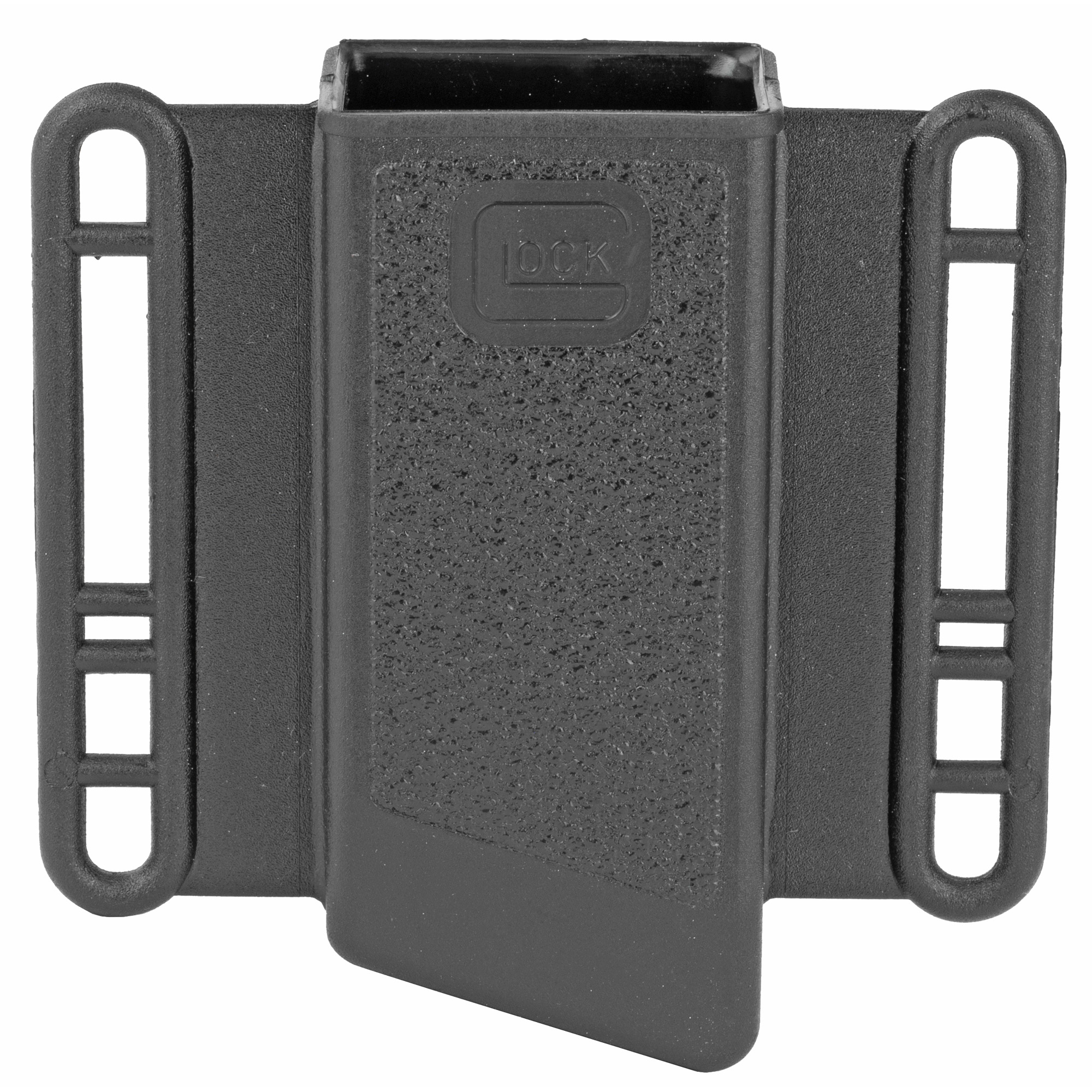 This is a OEM single magazine pouch for Glock 9/40/357/45GAP. It is made from the same highly durable polymer that you have come to depend on. The pouch has an innovative contoured design that allows for magazine retention without the need for any straps giving you greater speed and simplicity.