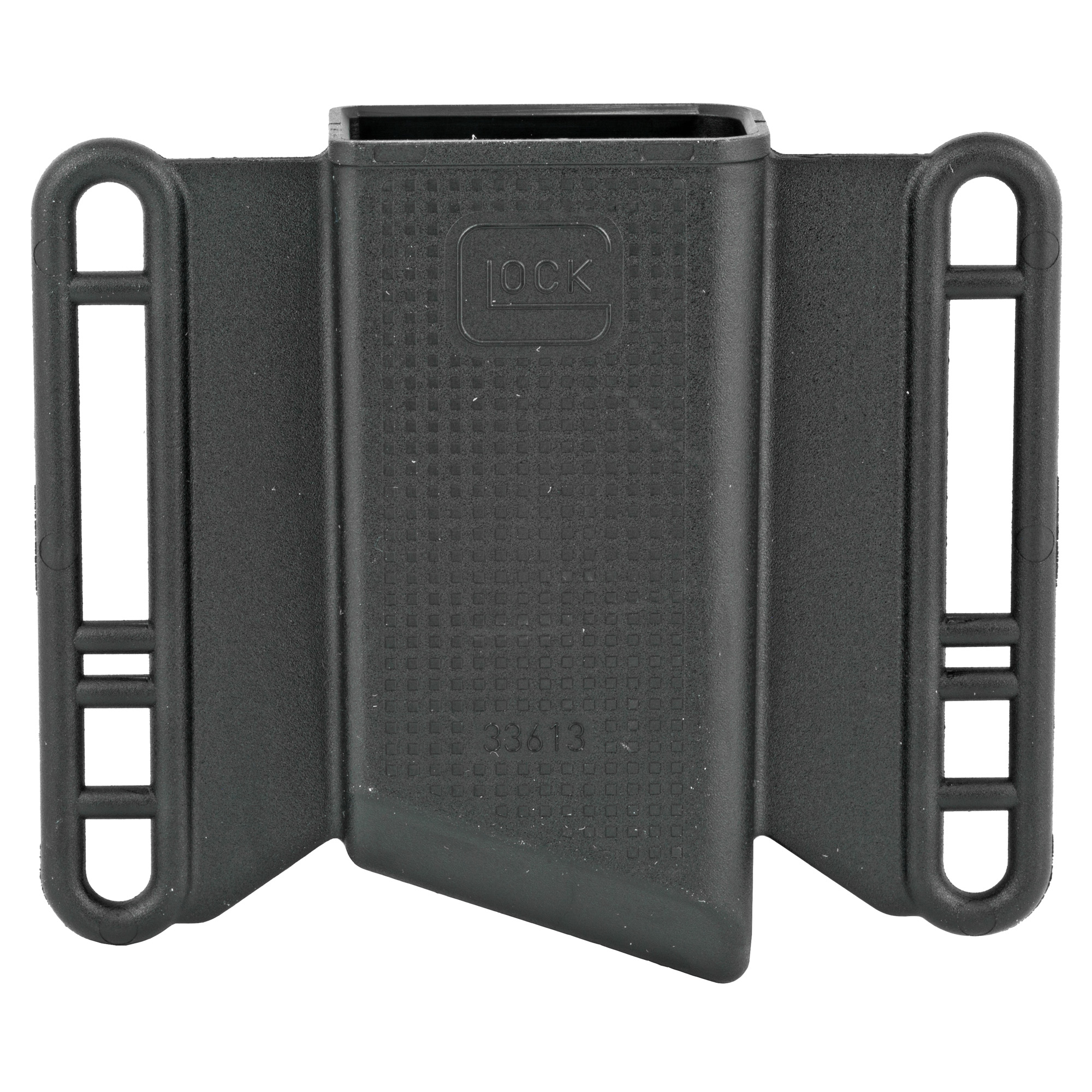 This is a OEM single magazine pouch for Glock 43. It is made from the same highly durable polymer that you have come to depend on. The pouch has an innovative contoured design that allows for magazine retention without the need for any straps giving you greater speed and simplicity.