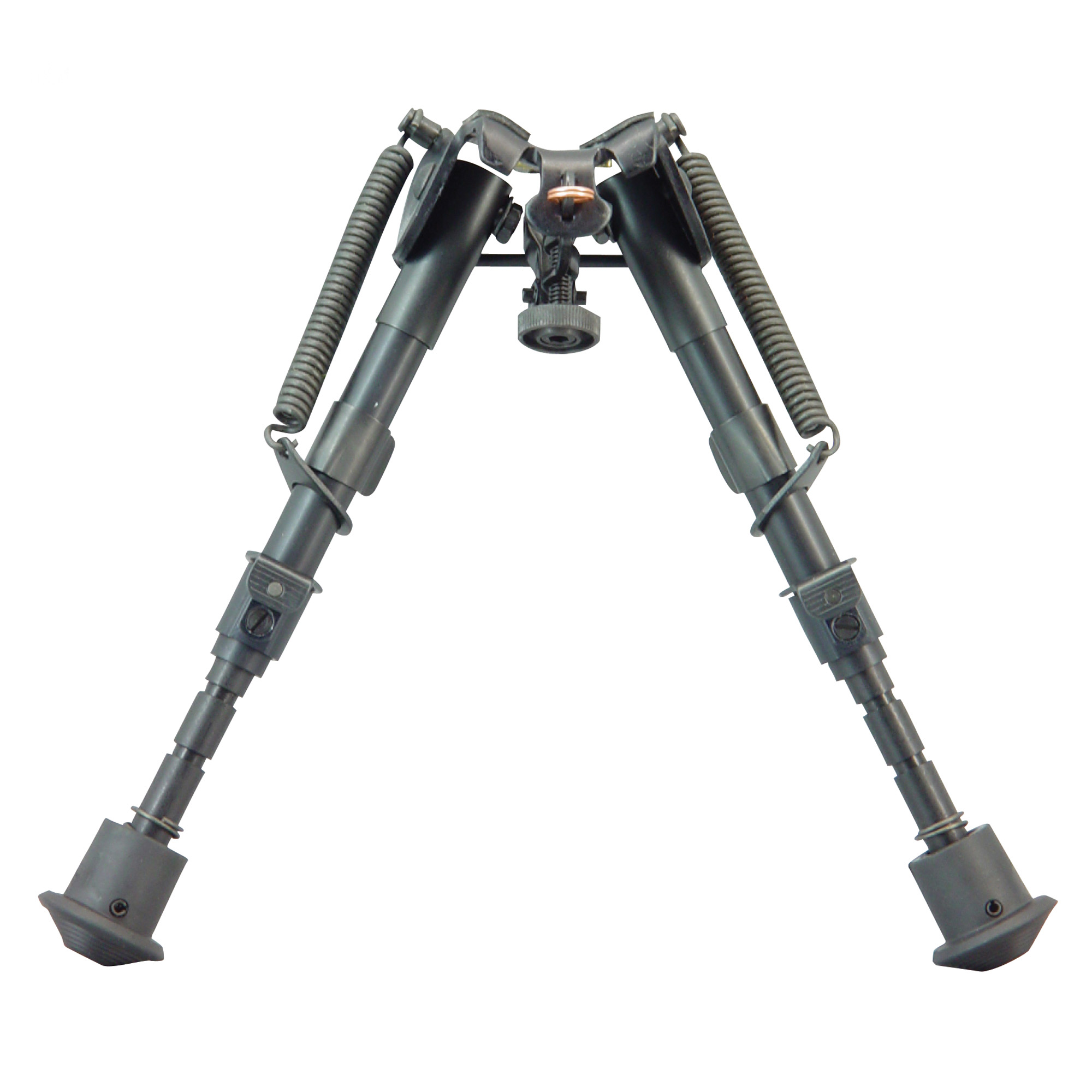 """Harris Engineering's 6""""-9"""" Ultra-Light Bench Rest Fixed Bipod with Notched Legs"""" attaches to a sling swivel stud. It is manufactured using high quality parts to ensure excellent function and sustainable use. The bipod features an anodized matte black finish."""